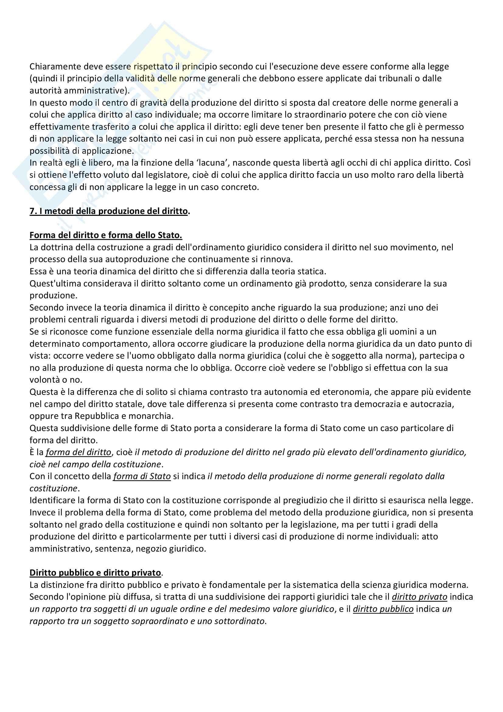 Lineamenti di dottrina pura del diritto, Kelsen - Appunti Pag. 26