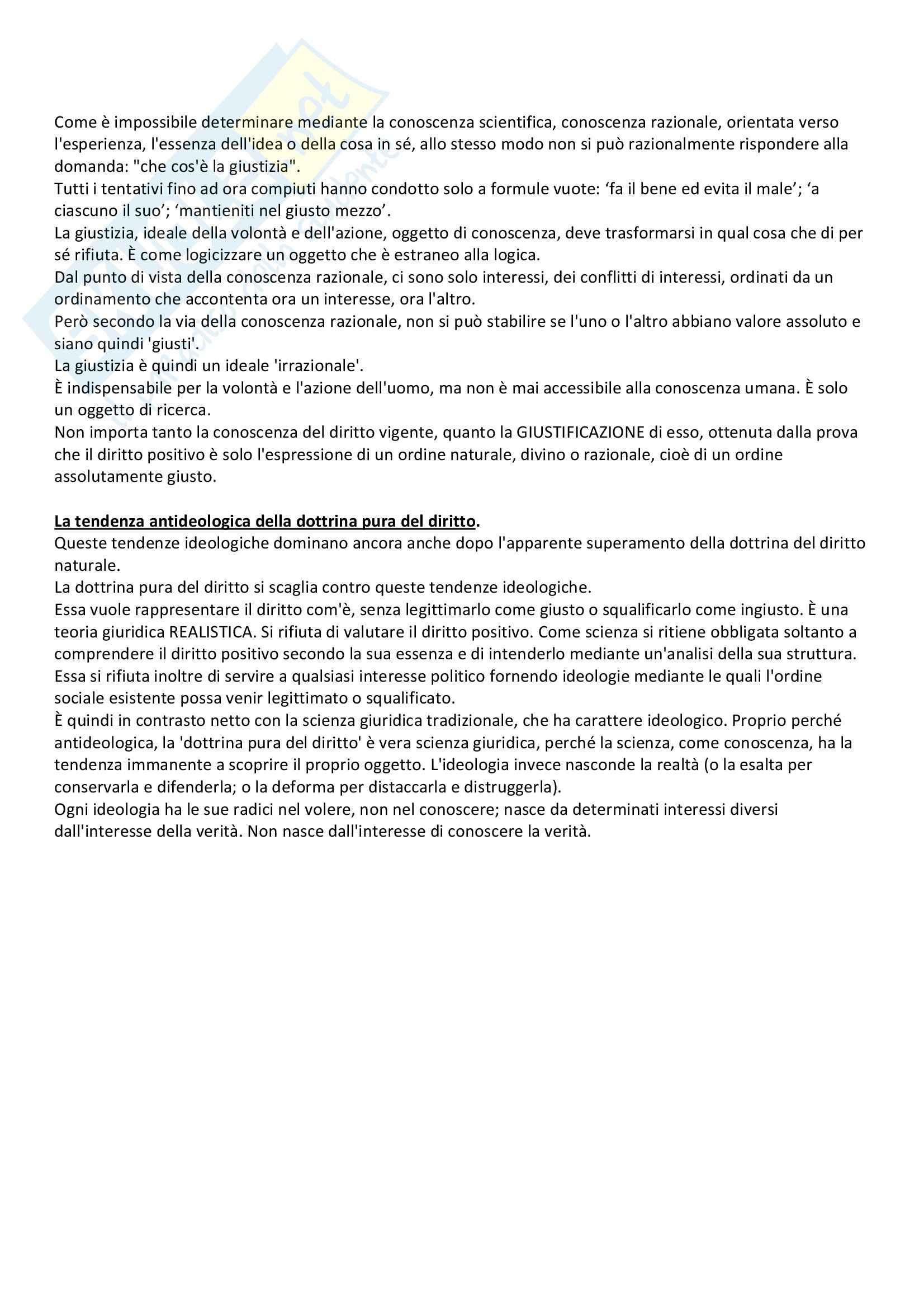 Lineamenti di dottrina pura del diritto, Kelsen - Appunti Pag. 6