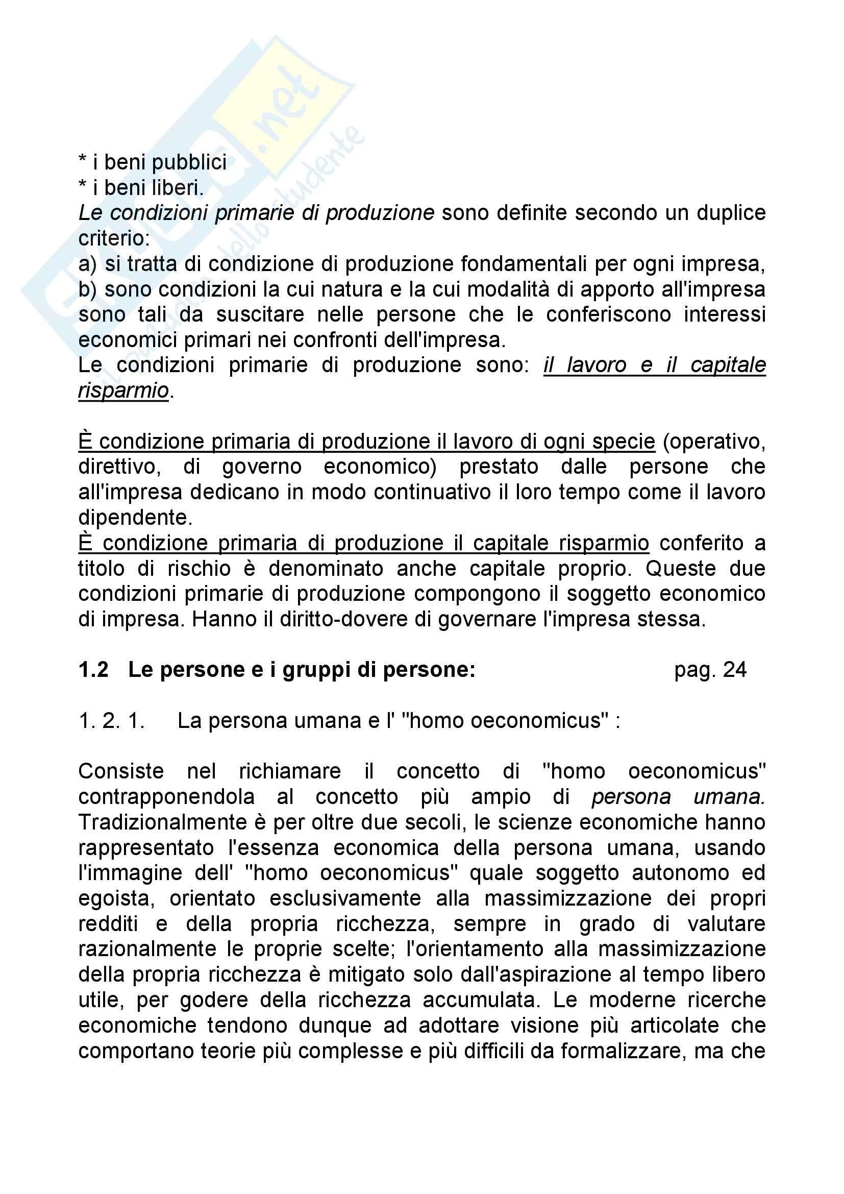 Riassunto esame Economia Aziendale, prof. Bagnoli, libro consigliato Corso di Economia Aziendale, Airoldi Pag. 6