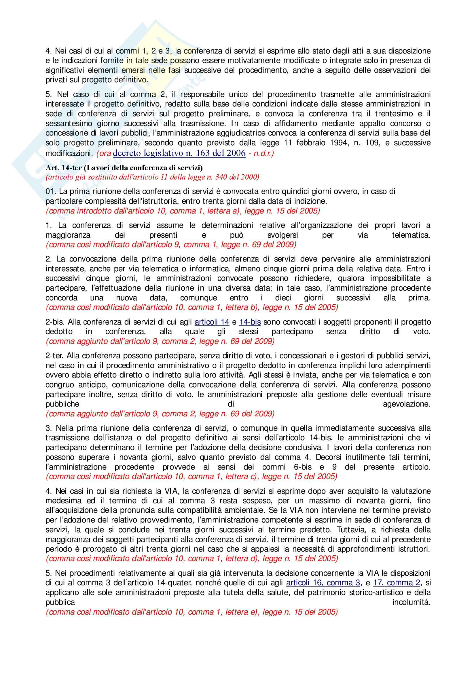 Diritto Amministrativo - Legge 241/90 Pag. 6