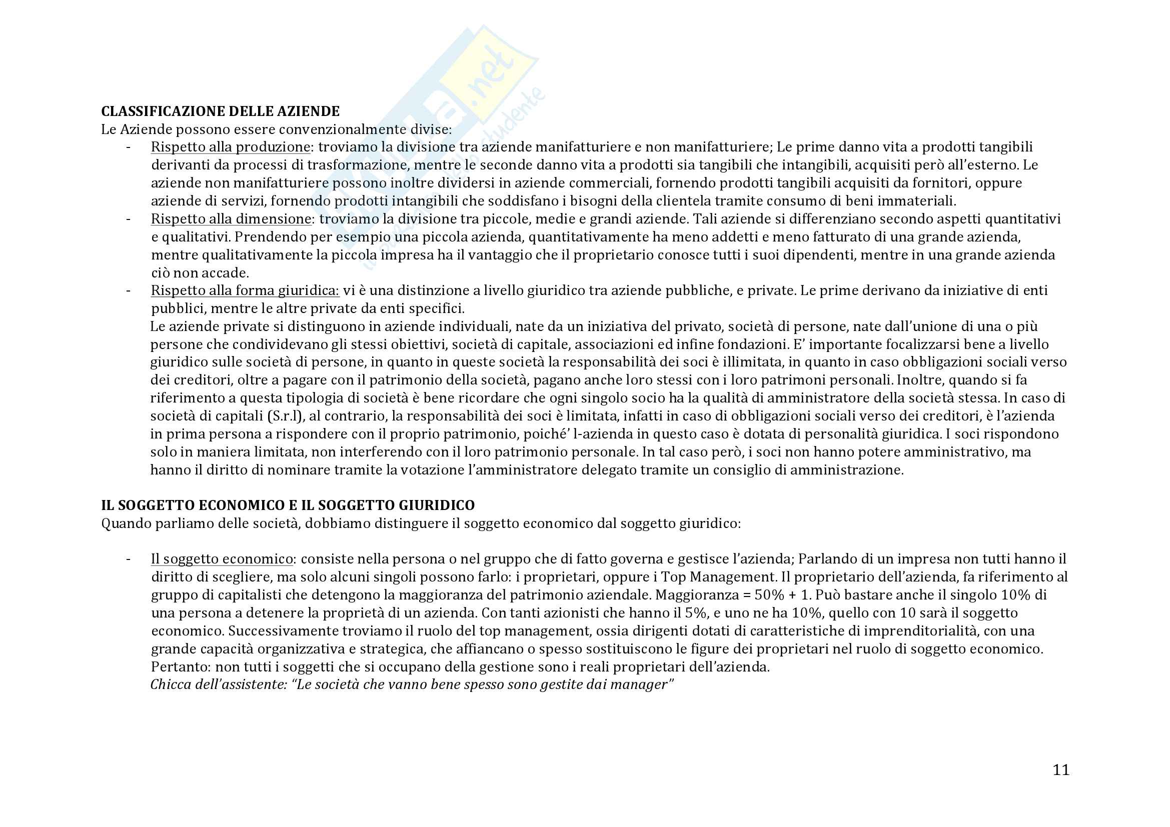 Riassunto esame Economia Aziendale - Michele Galeotti Pag. 11