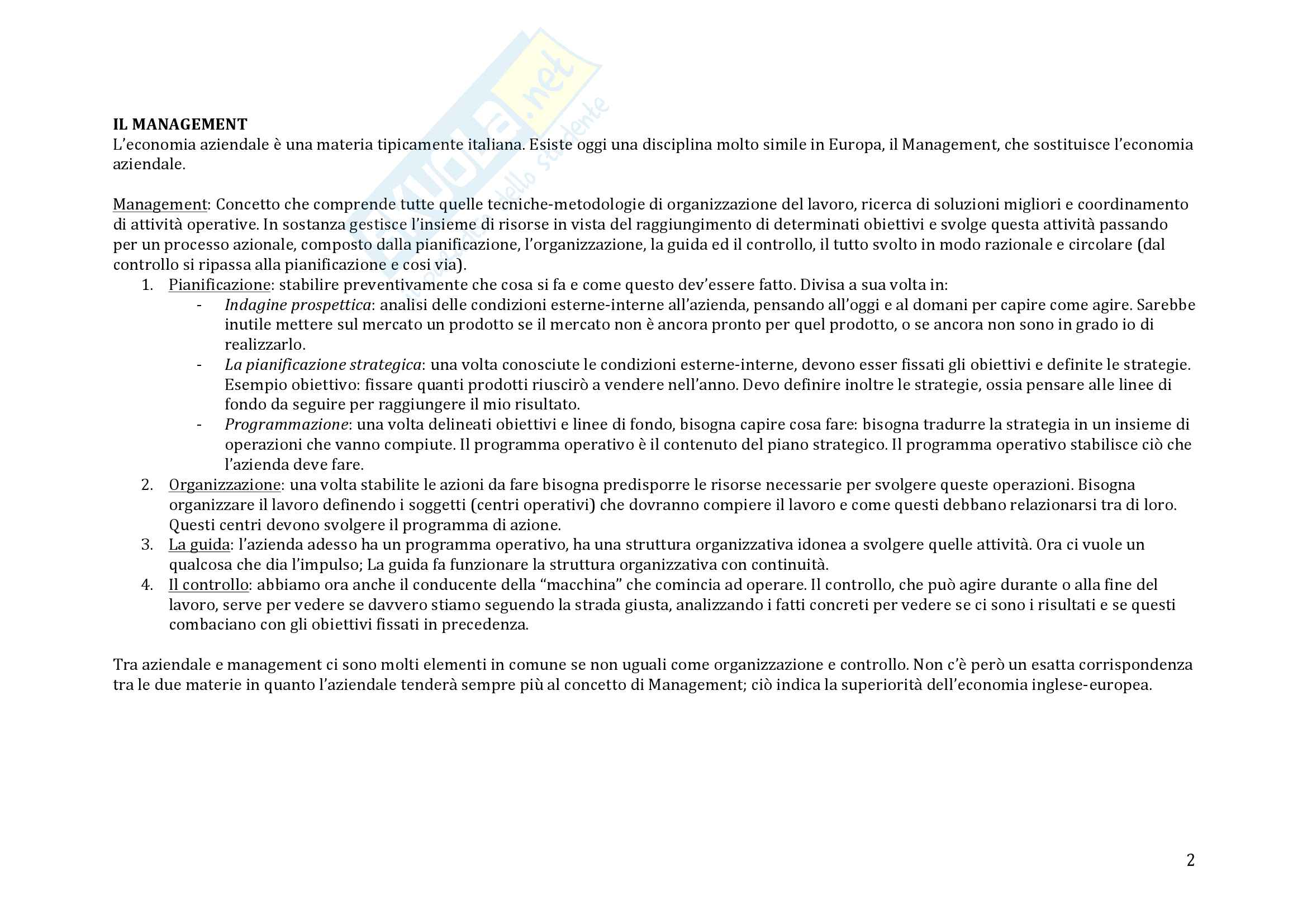 Riassunto esame Economia Aziendale - Michele Galeotti Pag. 2