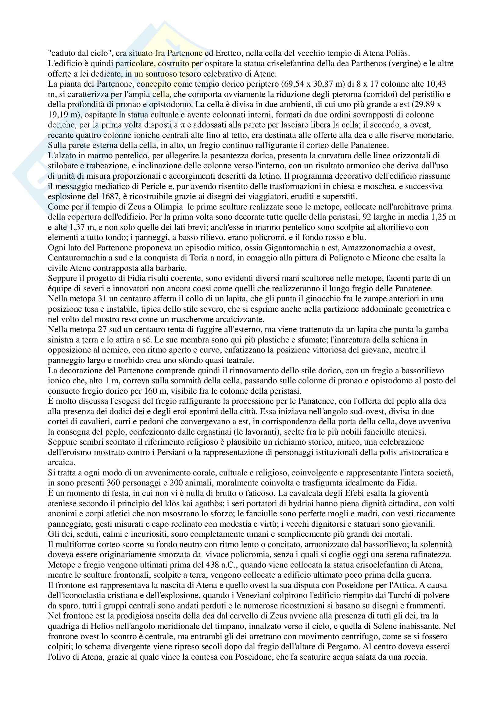 Riassunto esame Storia dell'arte greca, prof. Angiolillo, libro consigliato Arte greca, dal X al I secolo a.C, Bejor, Castoldi e Lamburgo Pag. 56