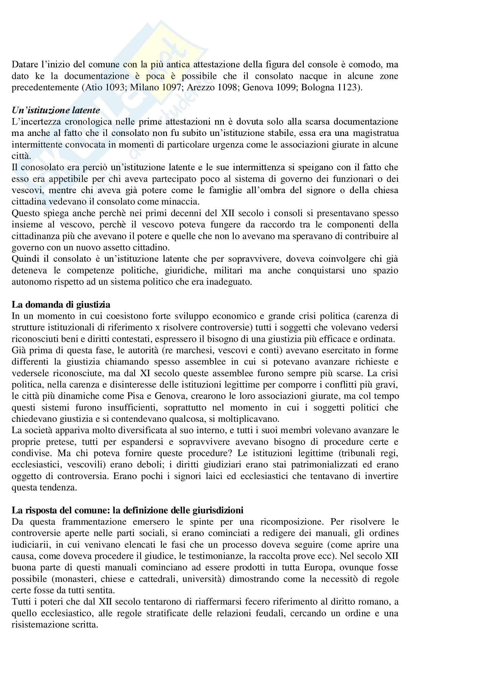 Società, Istituzioni e cultura politica nei comuni italiani - Appunti Pag. 6