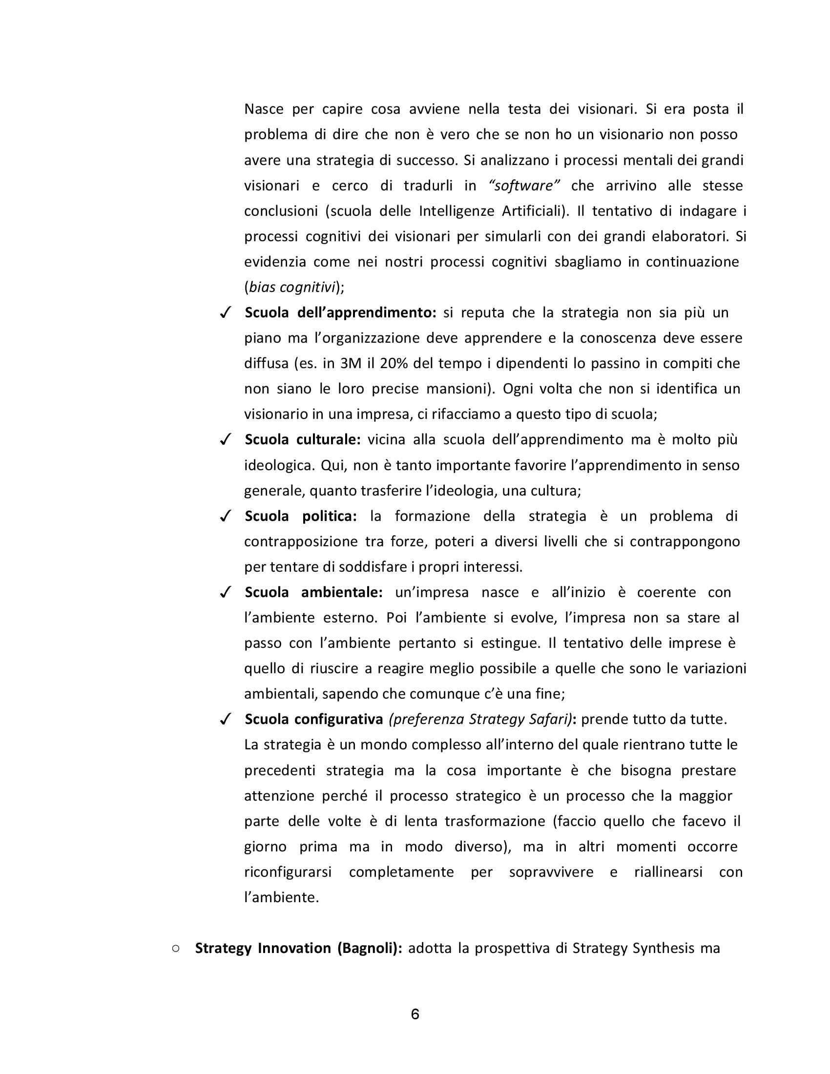 Strategia aziendale - Appunti Pag. 6