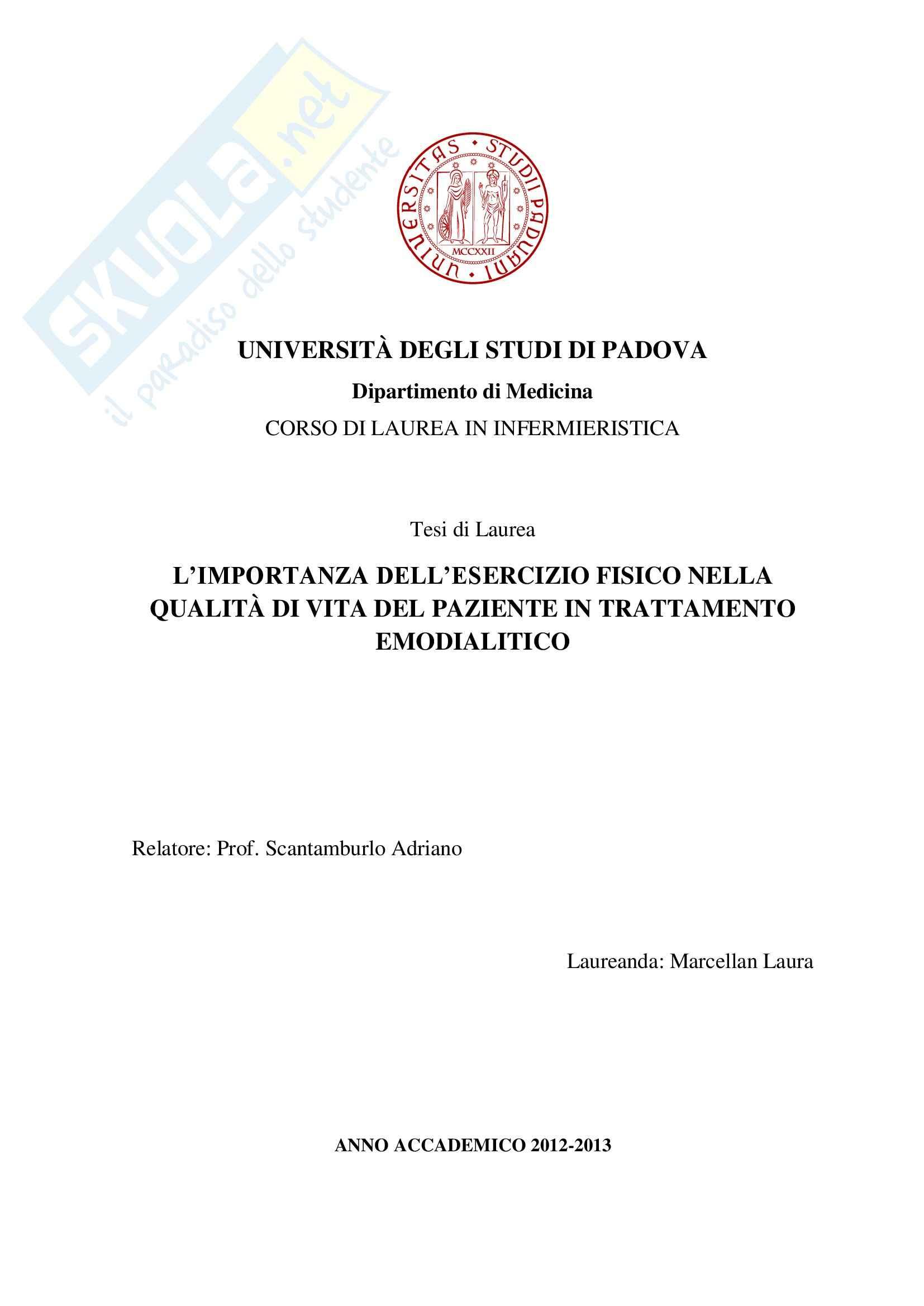 tesi A. Scantamburlo Infermieristica e tecniche infermieristiche chirurgiche