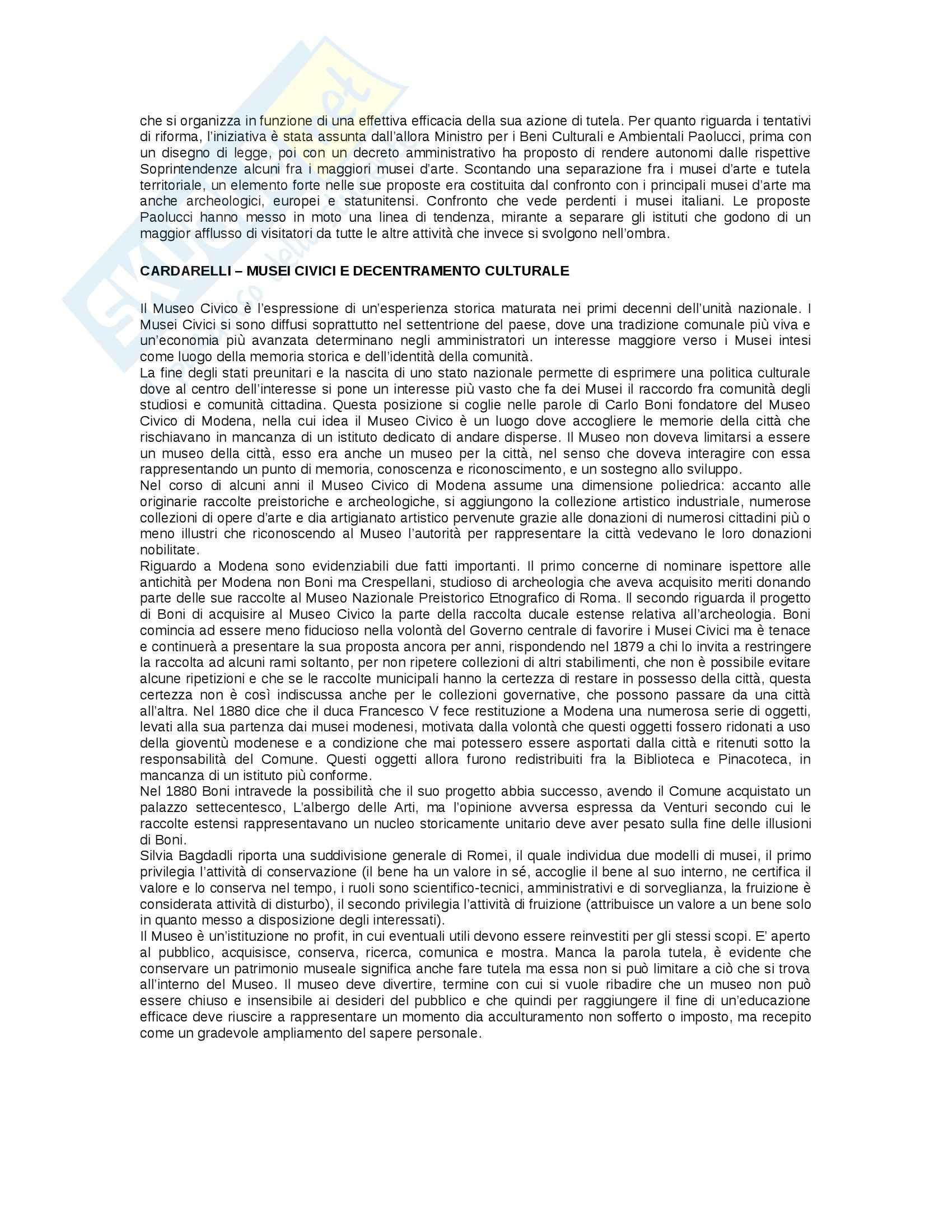 Riassunto esame Museologia, prof. Gioia Pag. 6