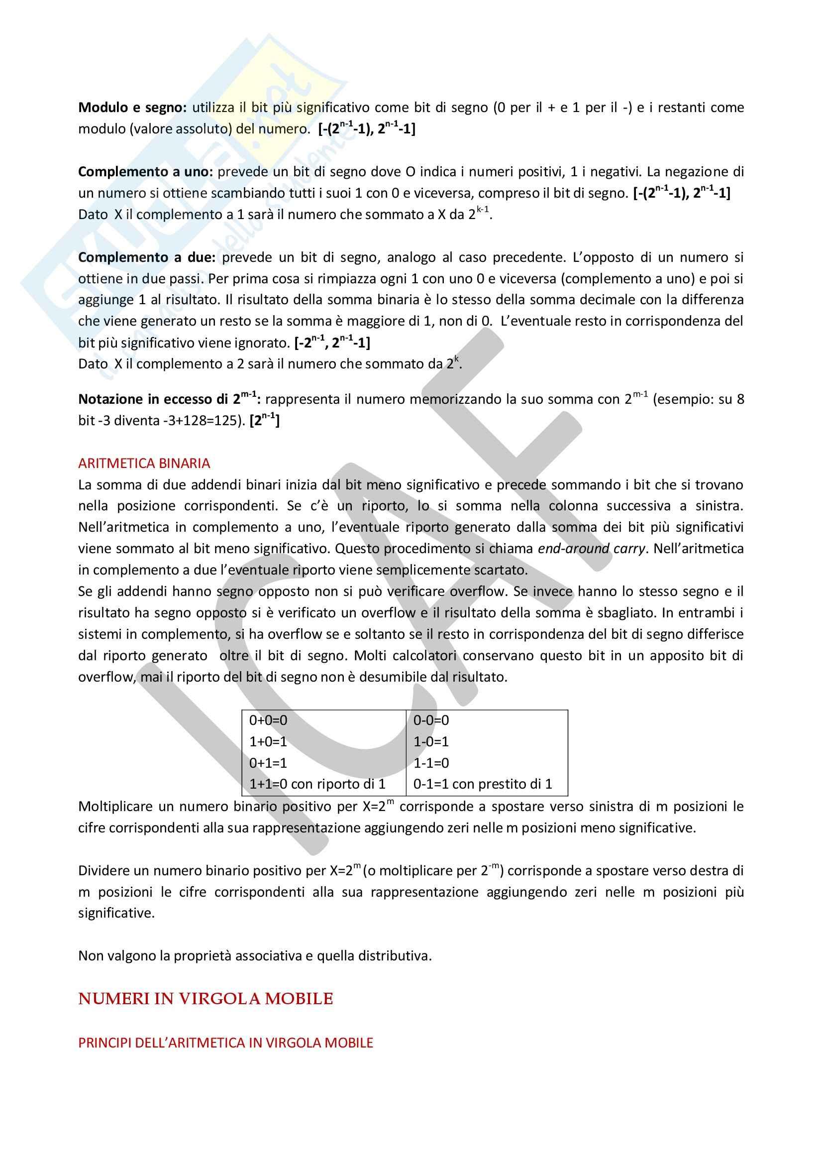 Architettura degli elaboratori - Appunti Pag. 2