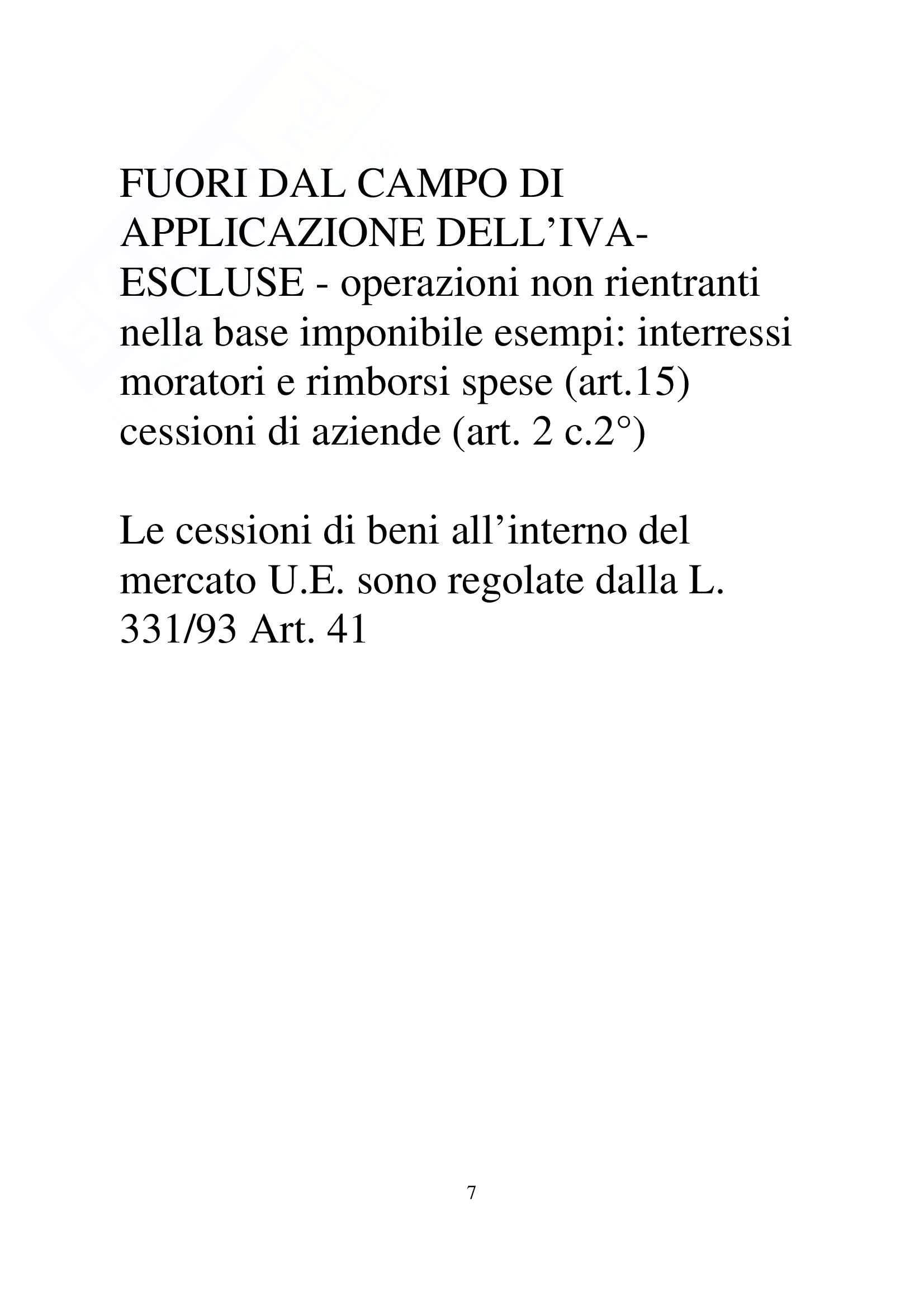 Diritto tributario -  Seminario Iva - Appunti Pag. 6