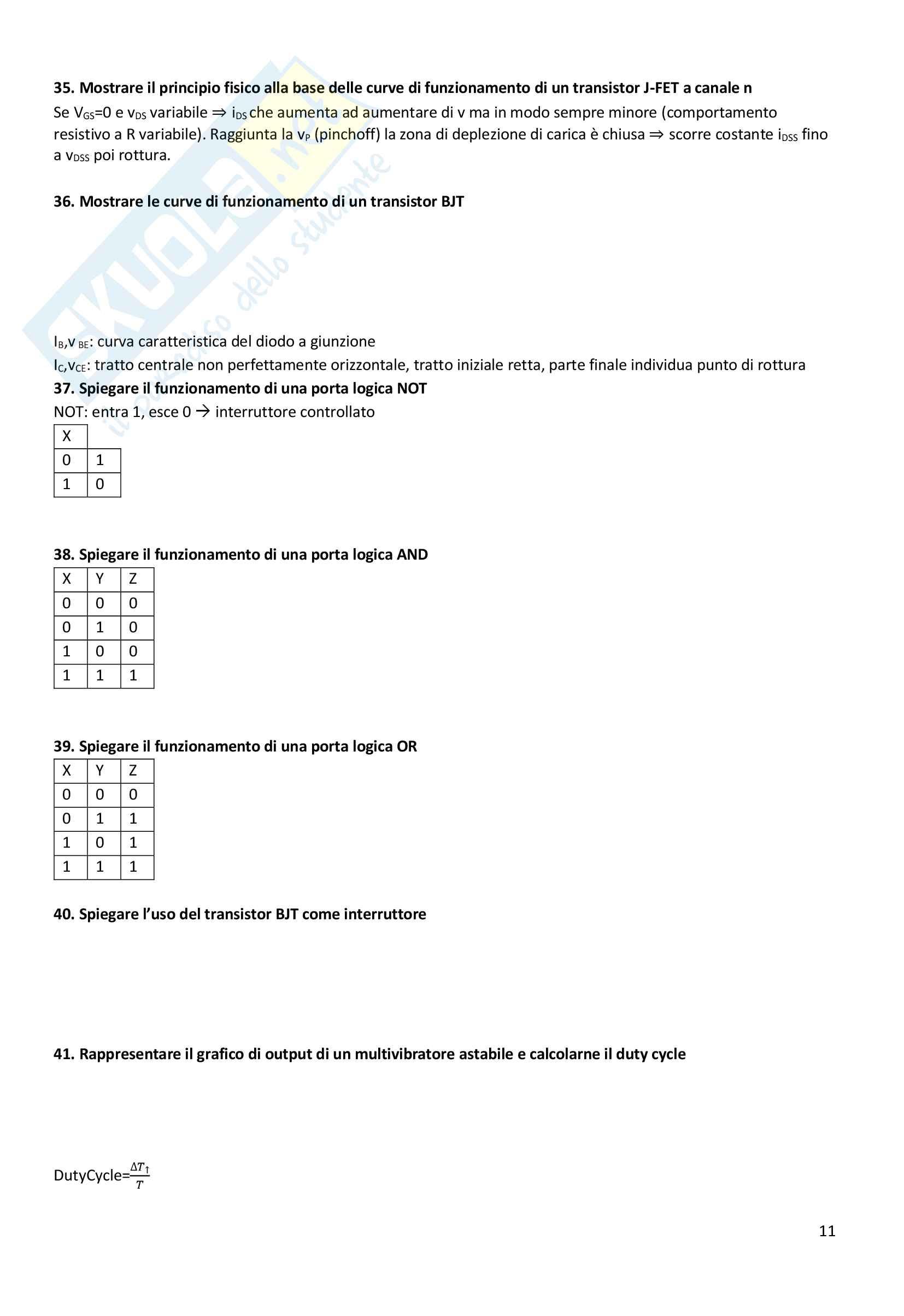 Domande in preparazione all'orale di elettrotecnica Pag. 11