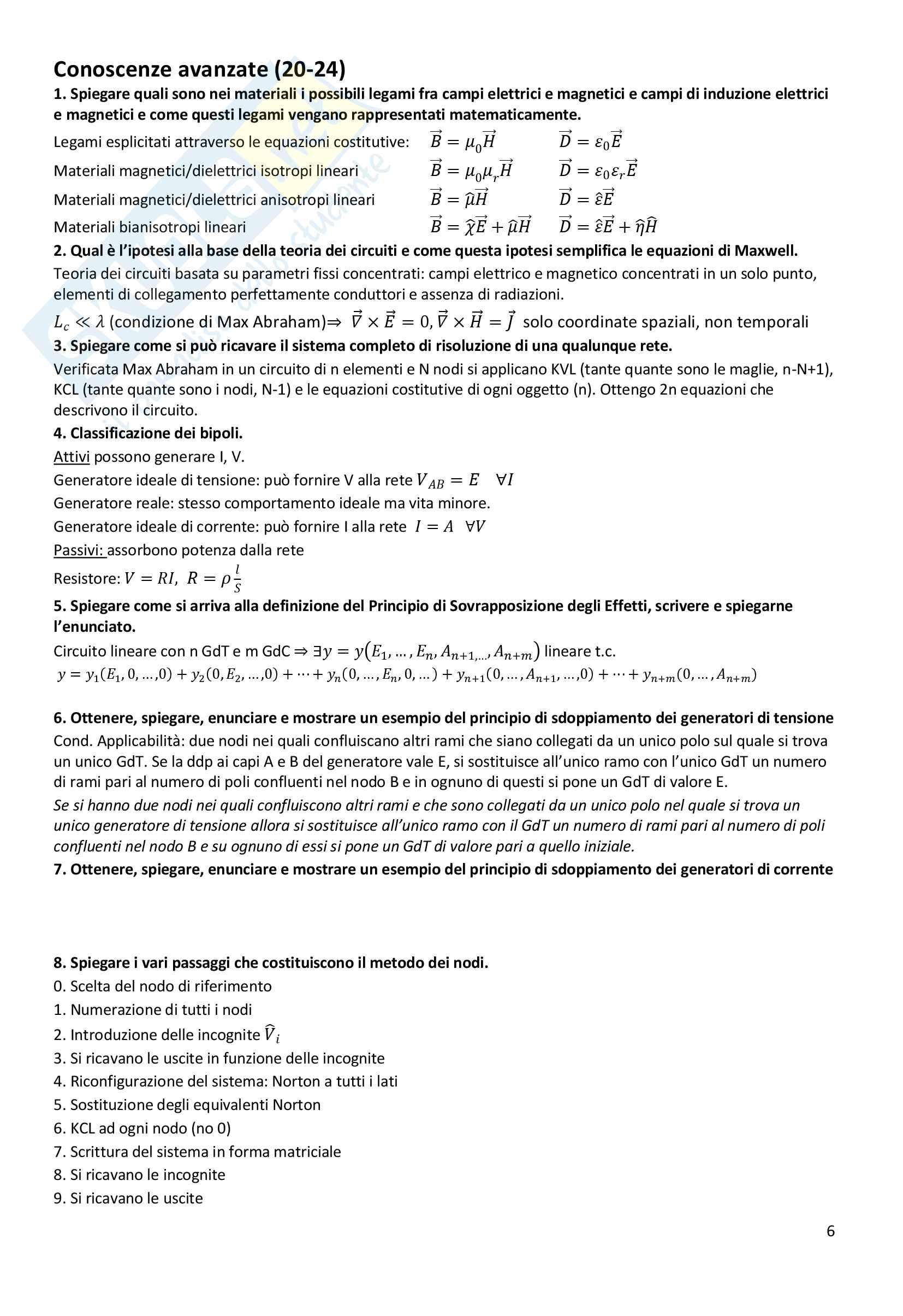 Domande in preparazione all'orale di elettrotecnica Pag. 6