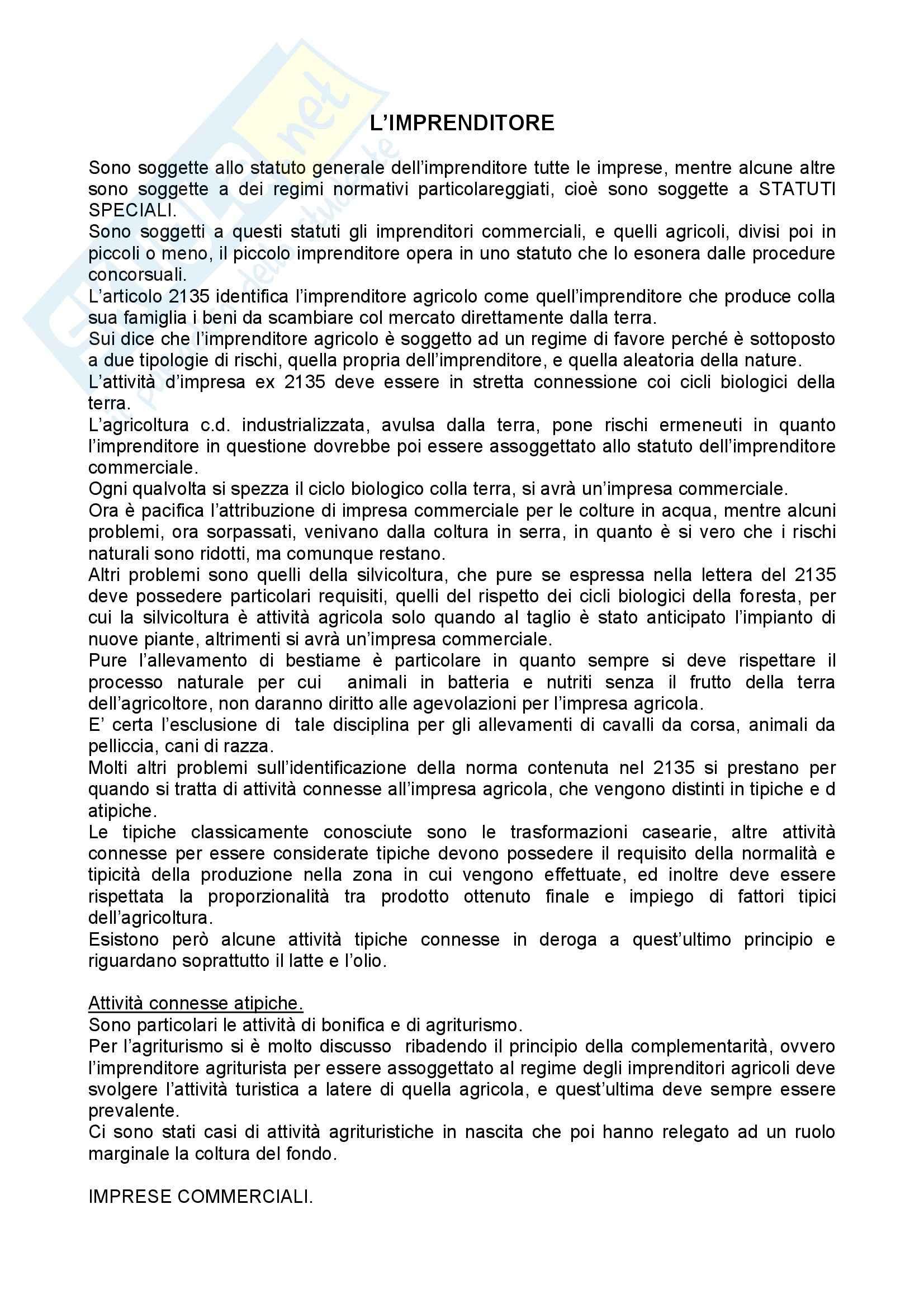 Riassunto esame Diritto commerciale, prof. Corvese, libro consigliato Manuale di Diritto Commerciale, Campobasso
