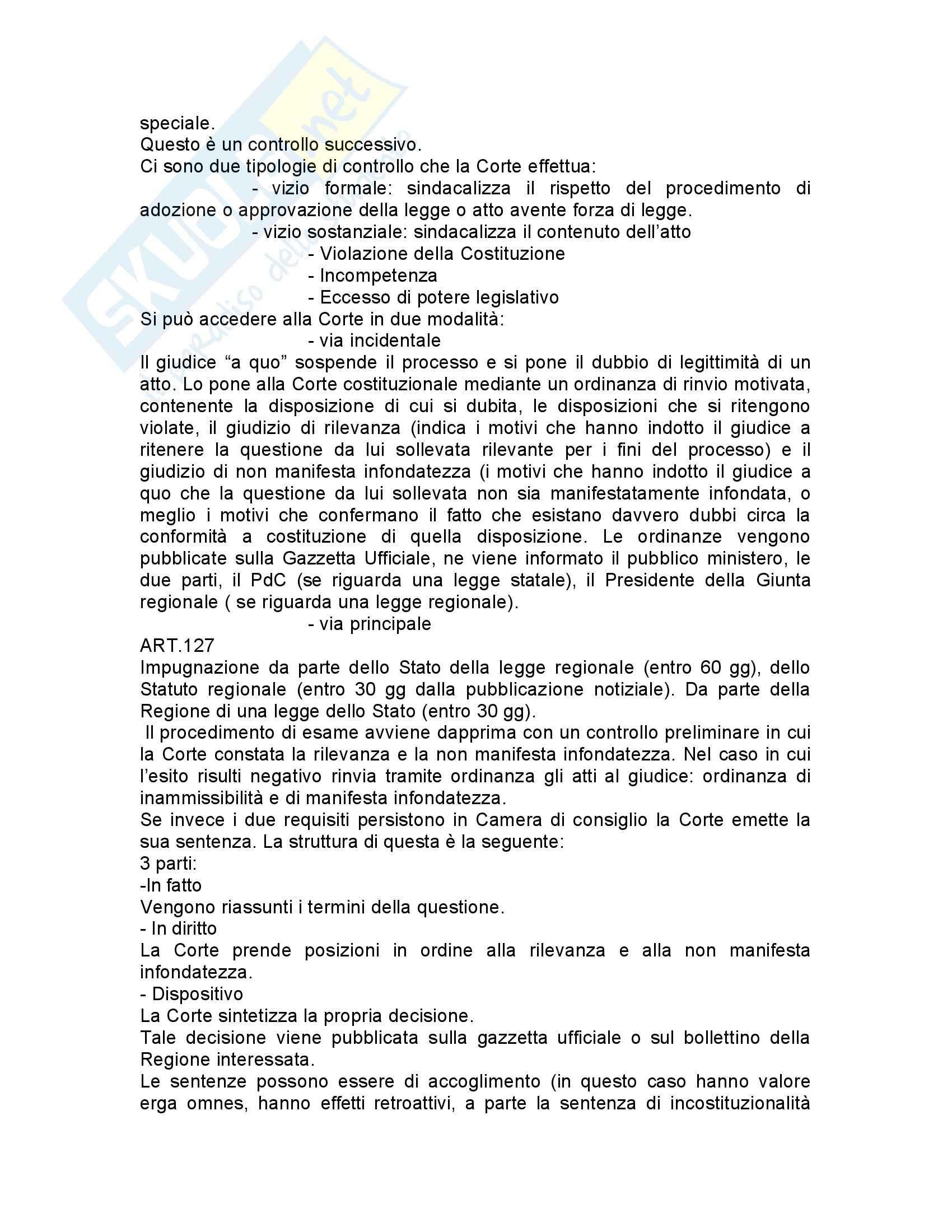 Diritto costituzionale italiano - nozioni generali Pag. 51