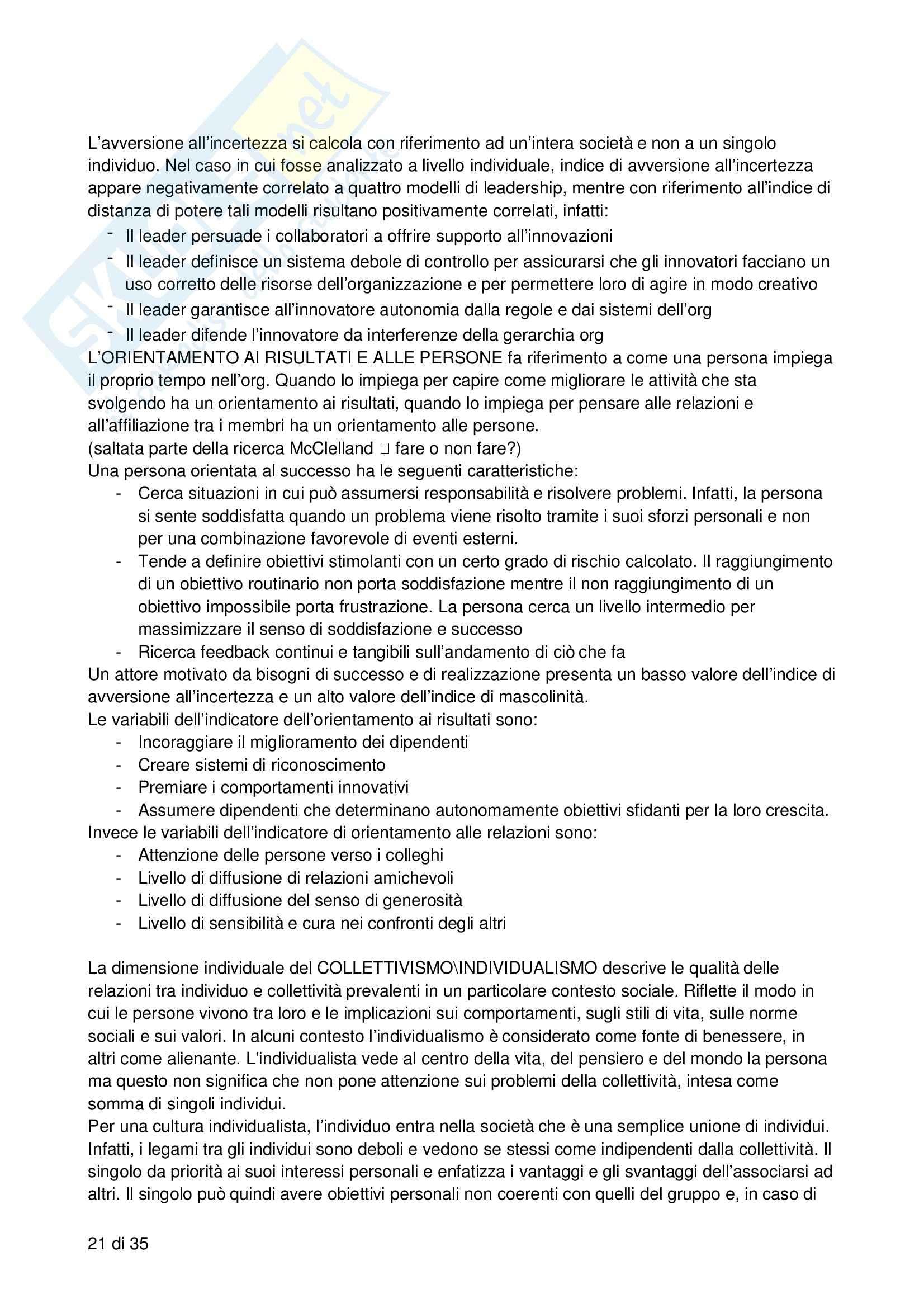 Riassunto esame Processi decisionali, negoziazione e leadership, prof. Bodega, libro consigliato Forme di leadership, Bodega Pag. 21