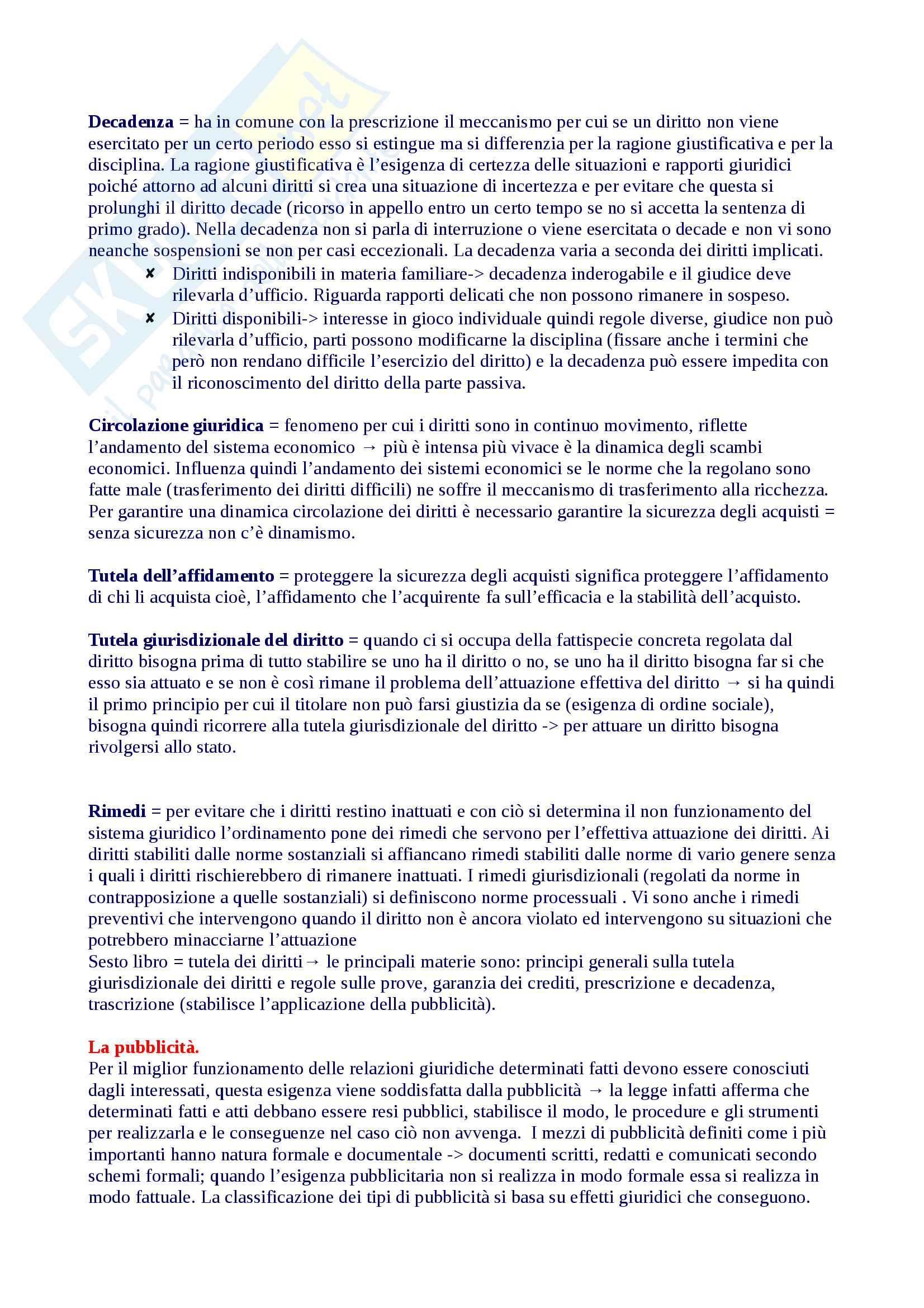 Riassunto diritto privato 1, libro consigliato Roppo Pag. 11