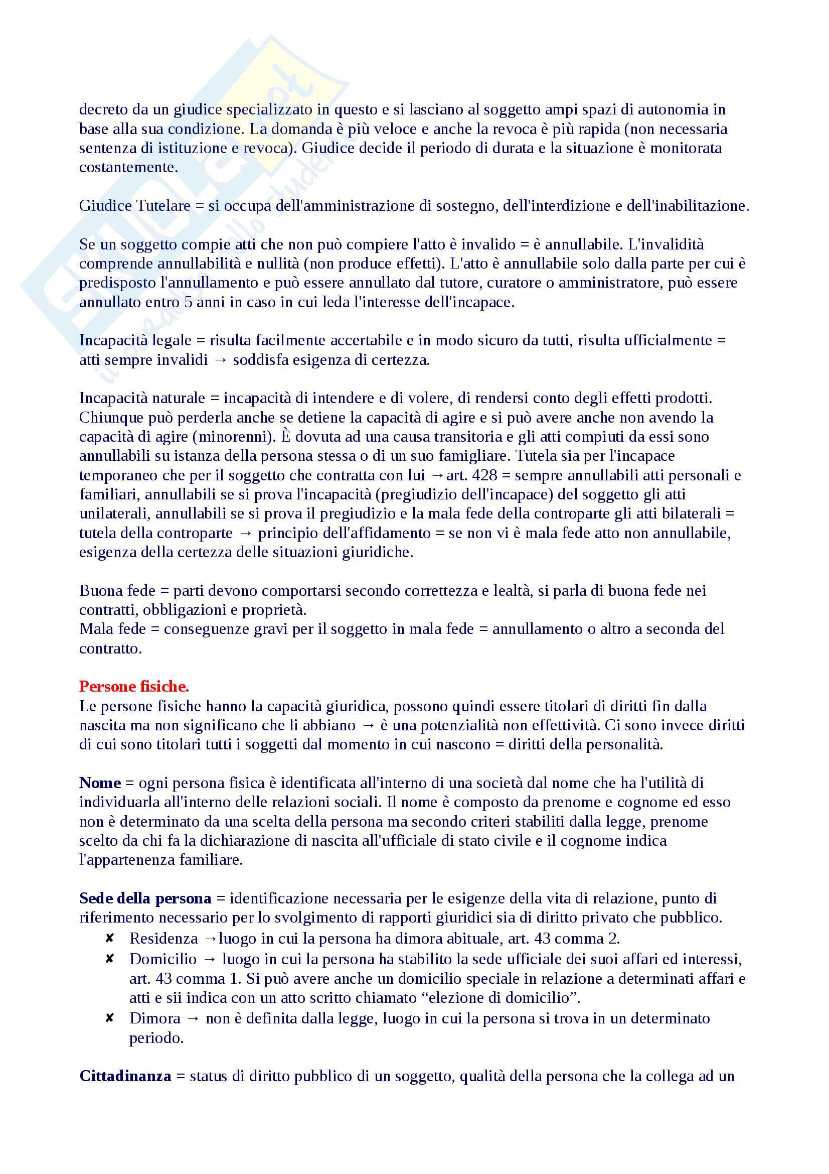 Riassunto diritto privato 1, libro consigliato Roppo Pag. 16