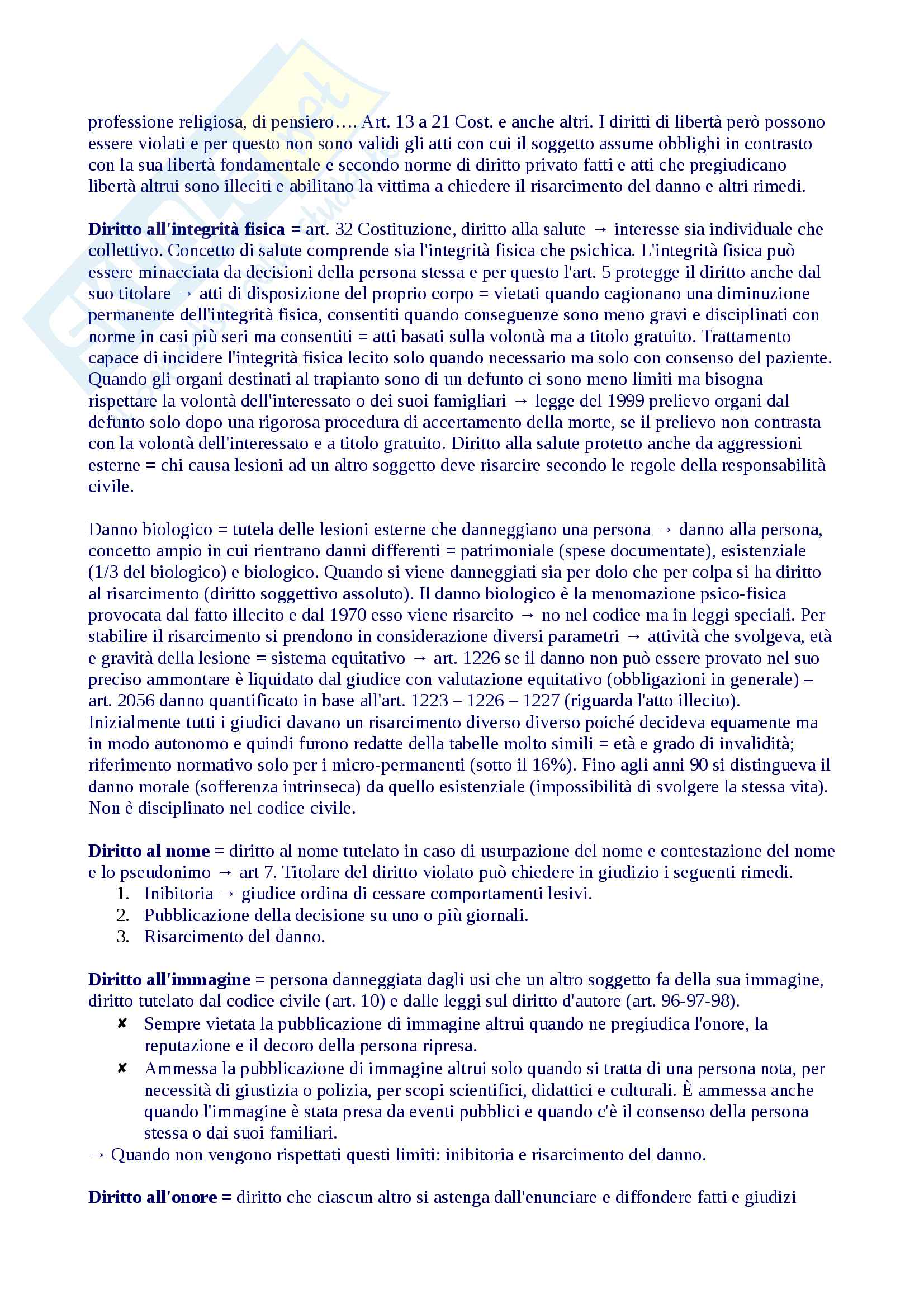 Riassunto diritto privato 1, libro consigliato Roppo Pag. 21
