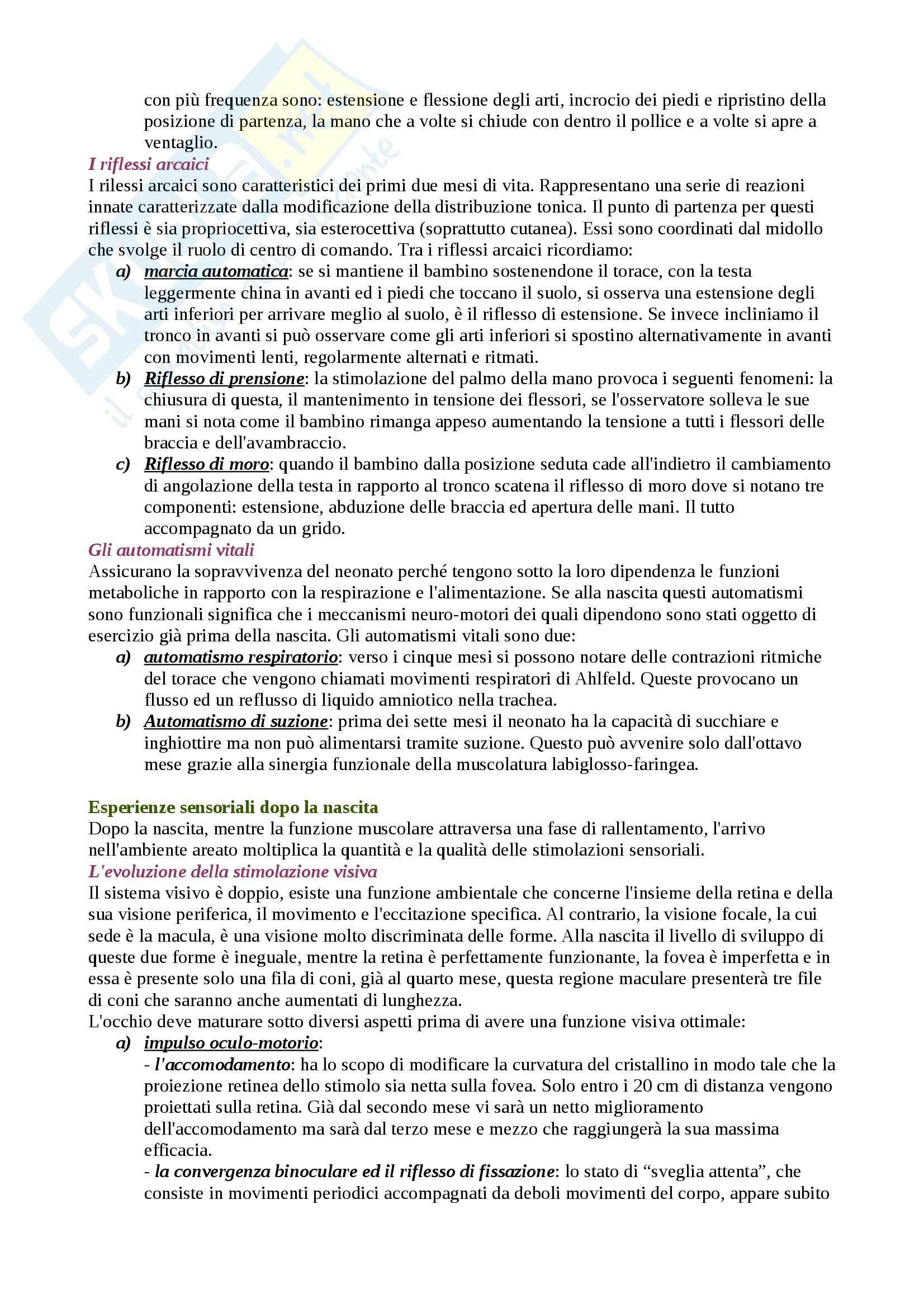 Riassunto esame Movimento Umano, prof. Bensi, libro consigliato Lo Sviluppo Psicomotorio dalla Nascita ai 6 Anni, Le Boulch Pag. 2