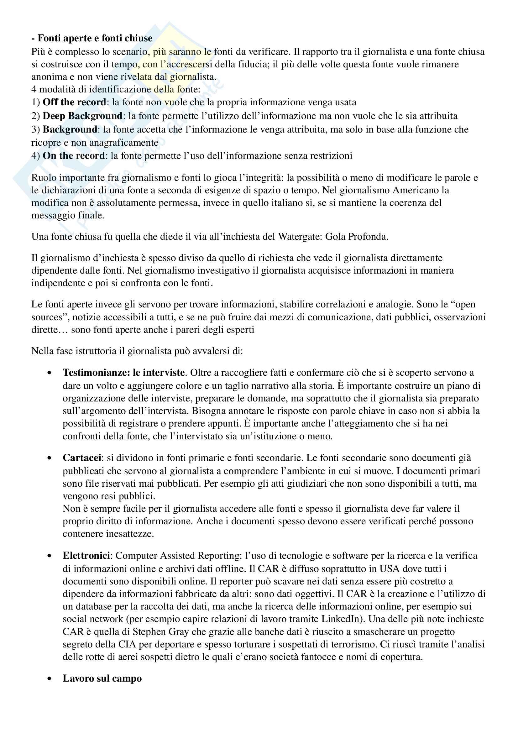 Appunti esame di Storia del Giornalismo, prof Ferrari, libro consigliato 'Gioco e Fuorigioco, Massimo Ferrari' Pag. 56