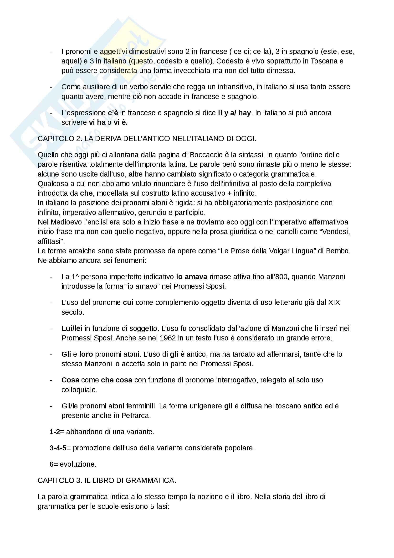 Riassunto esame Storia lingua, prof. Serianni, libro consigliato Prima lezione di grammatica, Serianni Pag. 2