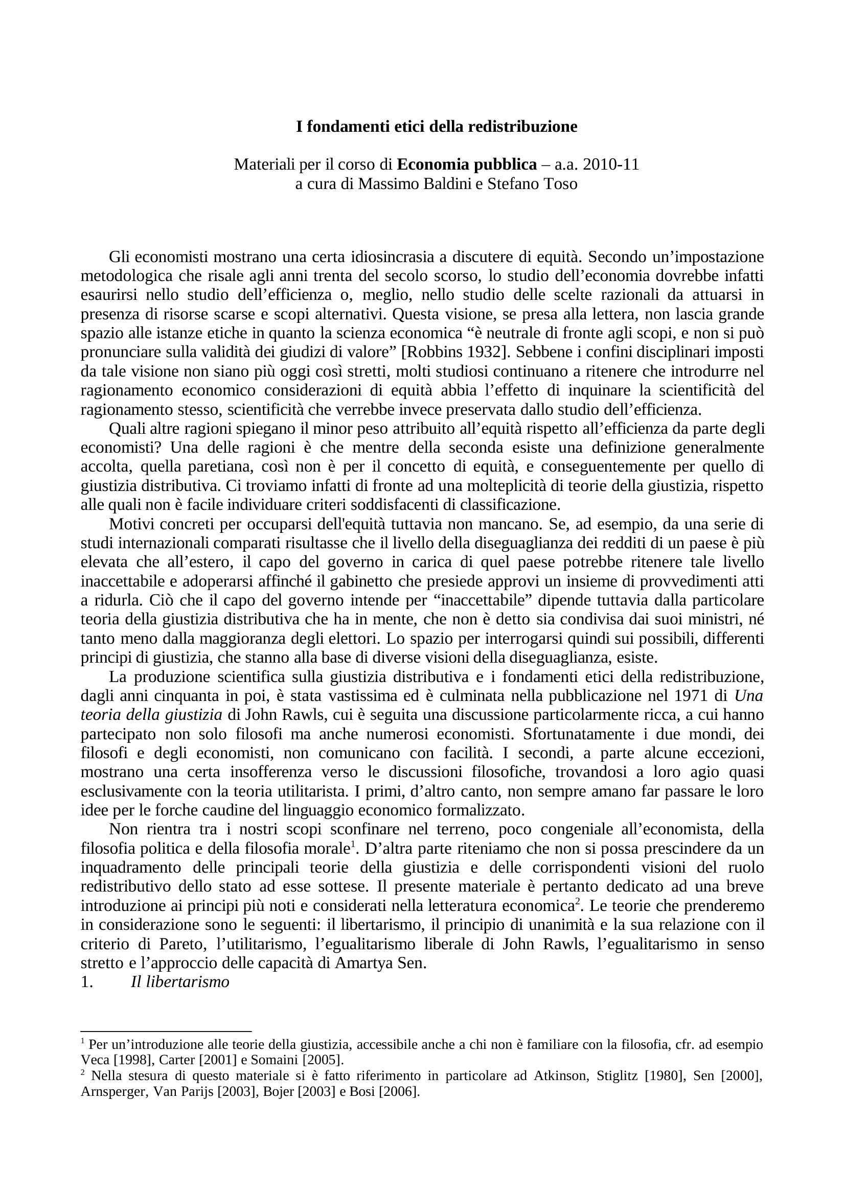 Redistribuzione di ricchezza - Teorie ed etica