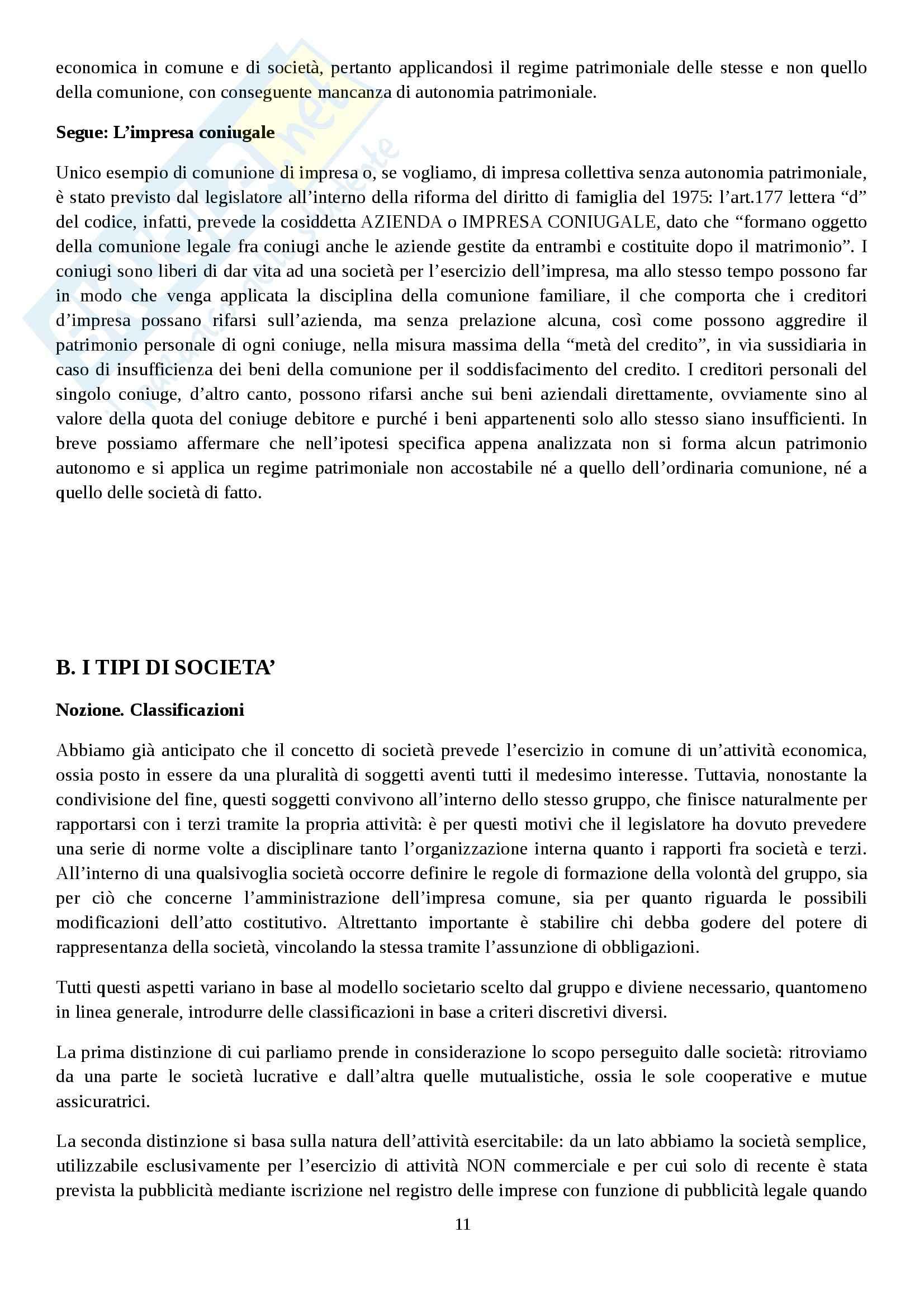 Riassunto esame Diritto commerciale, prof. Rocchi, libro consigliato Diritto delle società, Campobasso Pag. 11