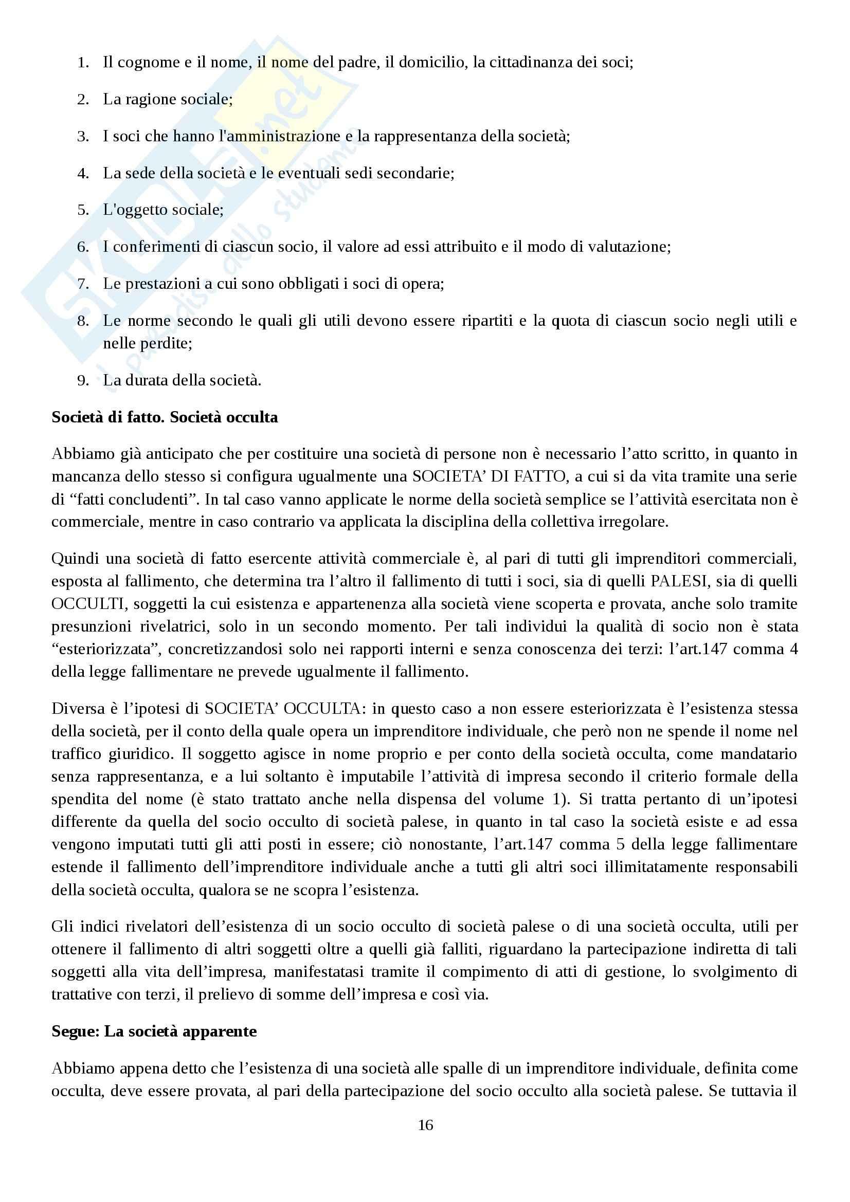 Riassunto esame Diritto commerciale, prof. Rocchi, libro consigliato Diritto delle società, Campobasso Pag. 16