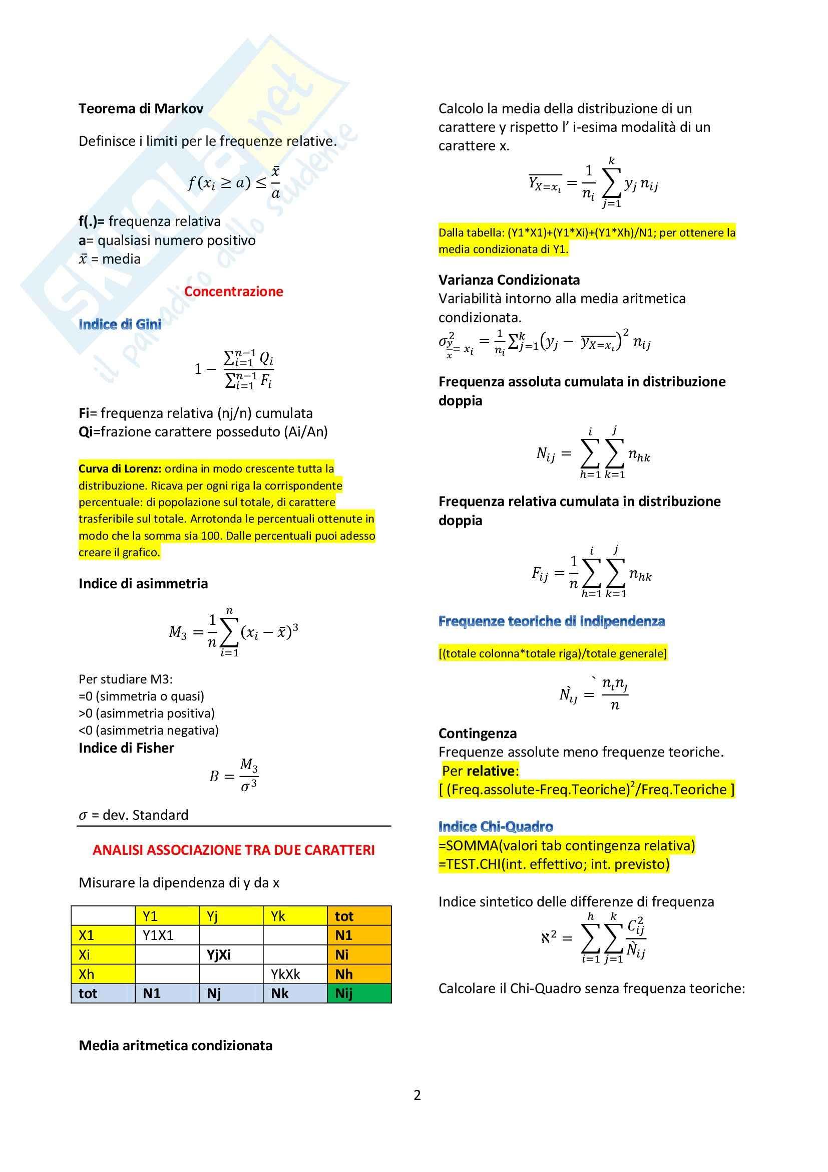 Statistica economica - Formulario Pag. 2