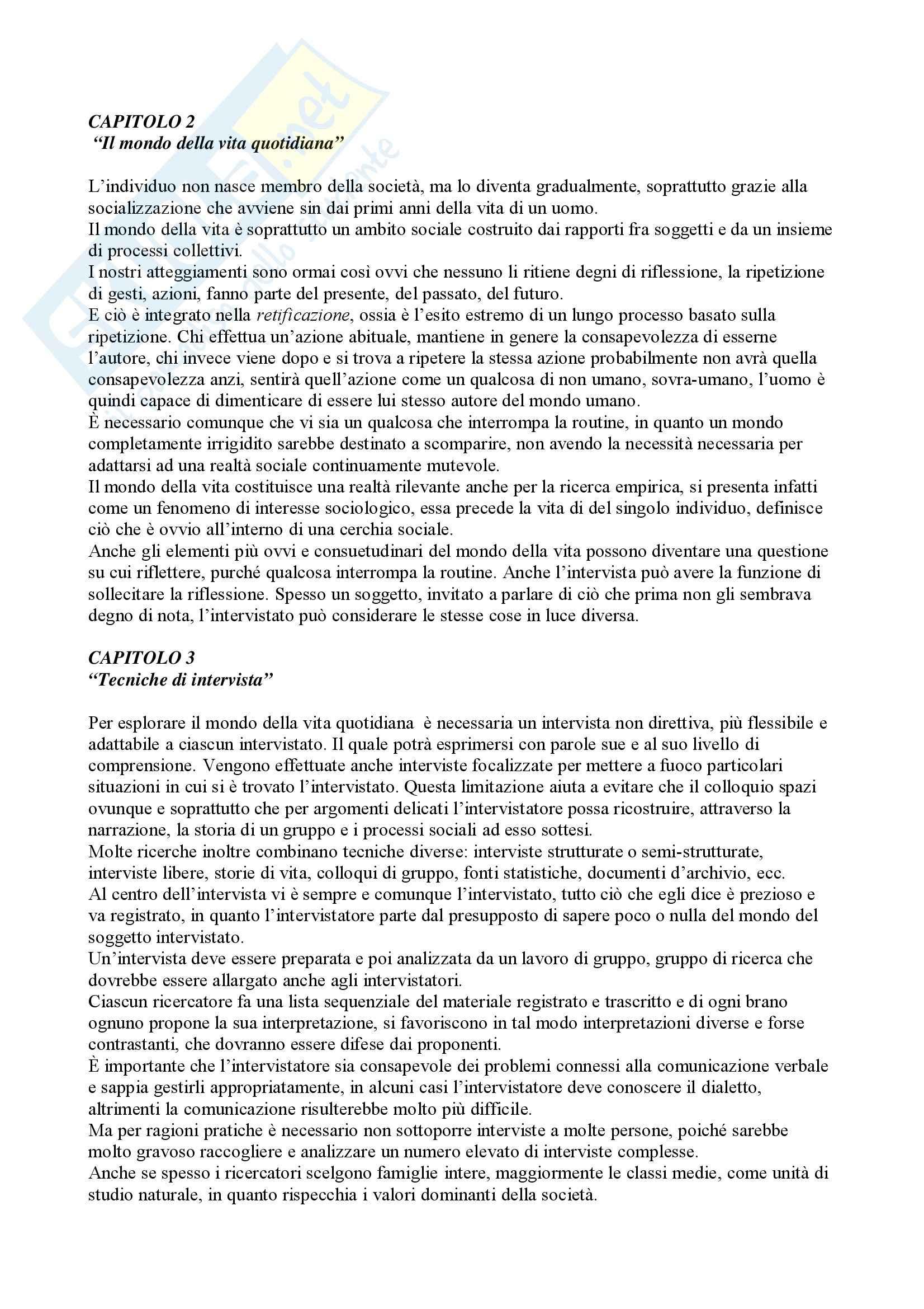 appunto P. Montesperelli Metodologia e tecnica della ricerca sociale