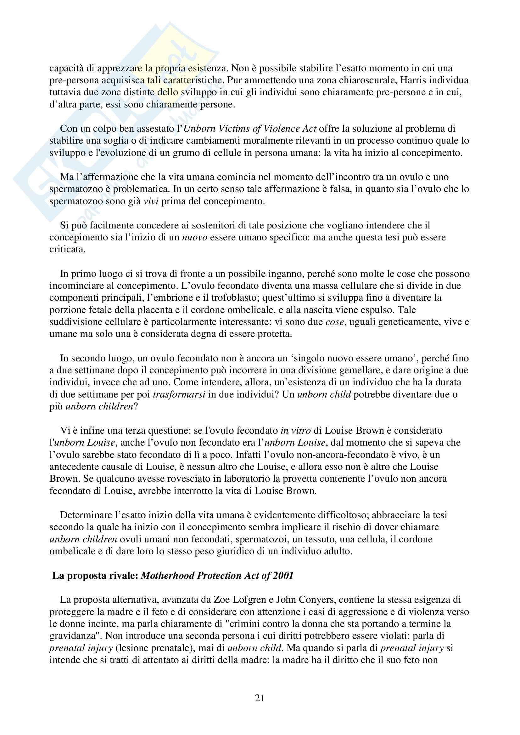 Riassunto esame Biodiritto, prof. Casonato, libro consigliato Introduzione al biodiritto Pag. 21