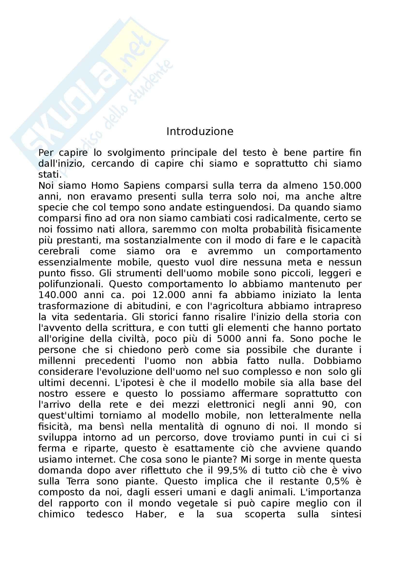 Riassunto esame Design di Prodotto, prof. Corrado, libro consigliato Il Sentiero dell'Architettura Porta nella Foresta