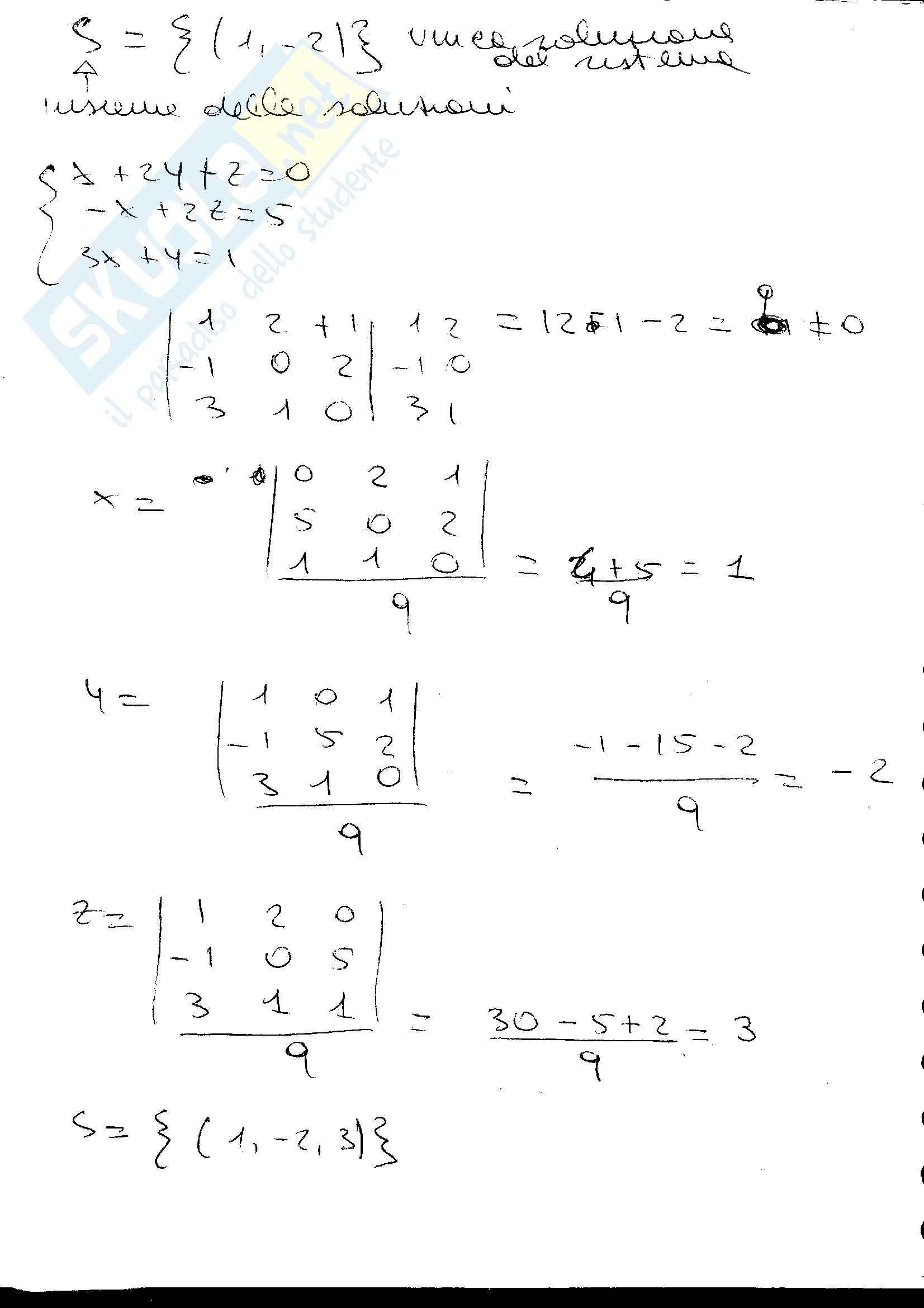 appunto G. Donati Algebra e Geometria