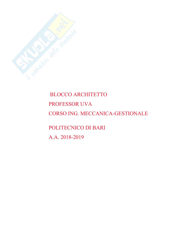 Blocco Architetto -  disegni a mano