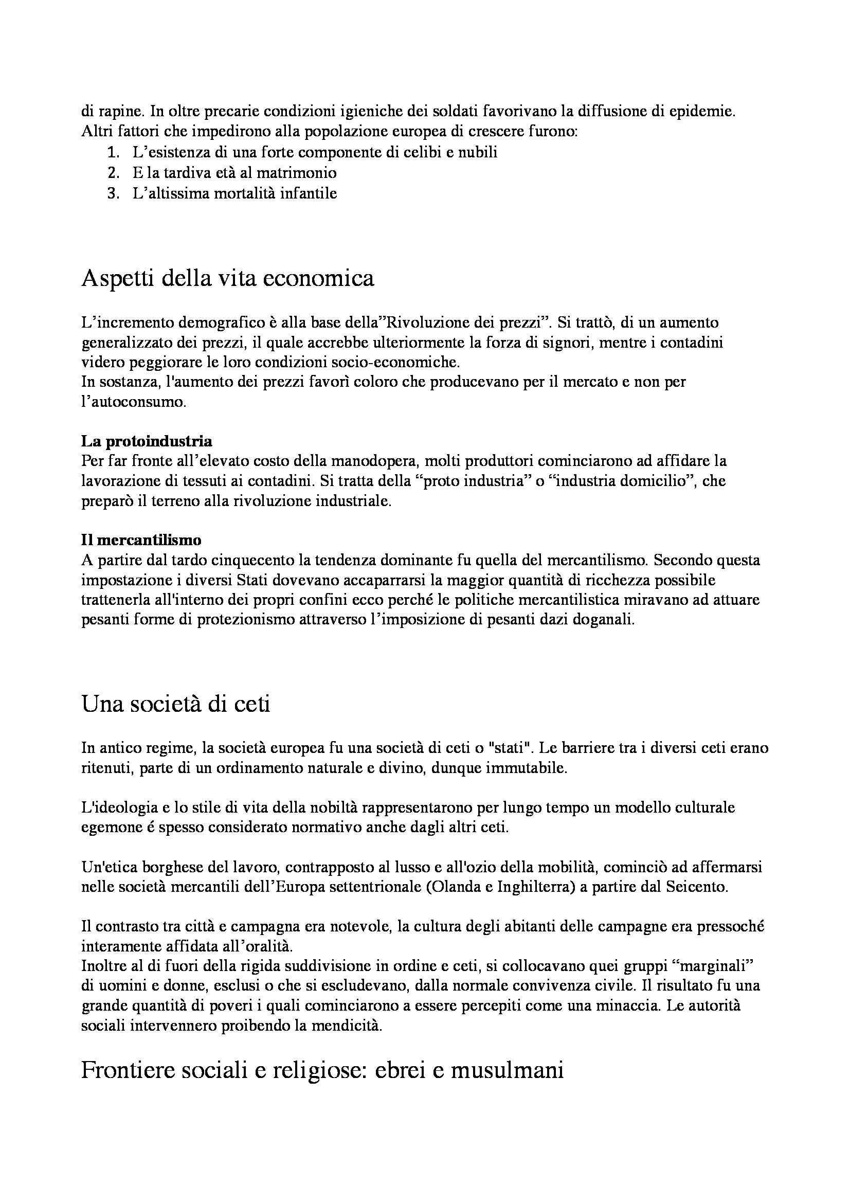 Riassunto esame Storia moderna, I temi e le fonti, prof. Dall'Olio Pag. 2