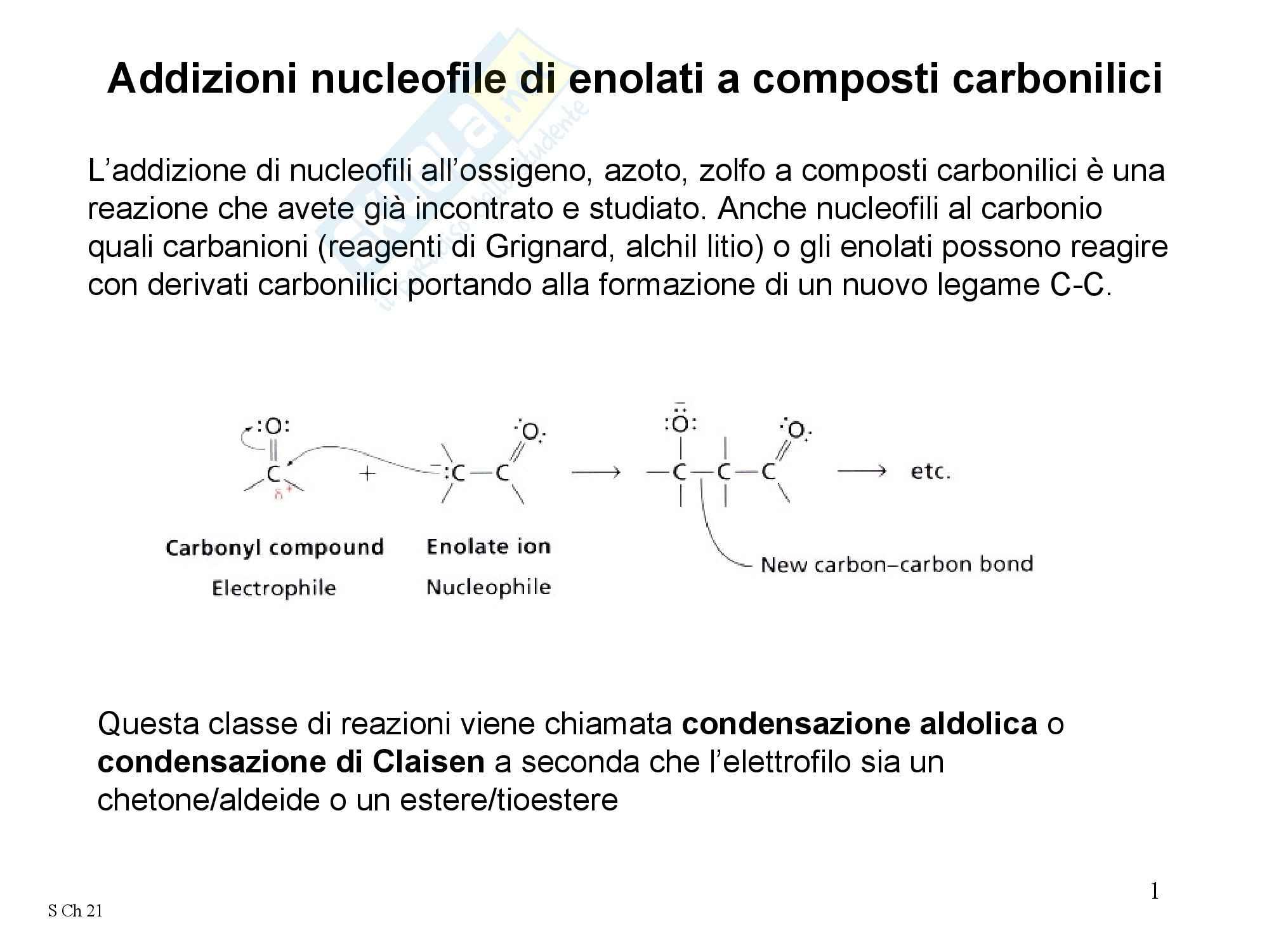 Chimica organica - la condensazione aldolica
