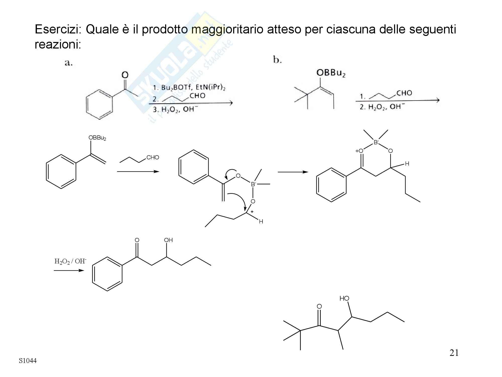 Chimica organica - la condensazione aldolica Pag. 21