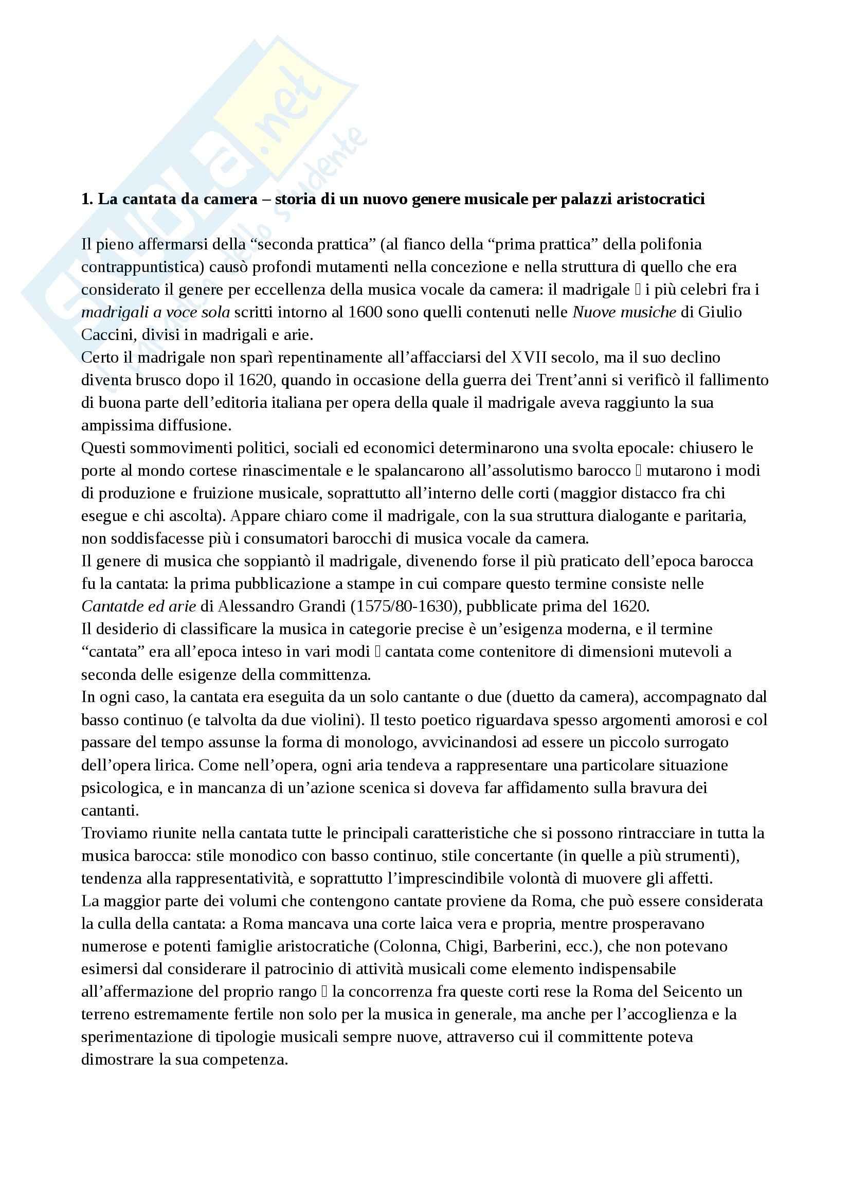 Riassunto esame Musica, prof. Cafiero, libro consigliato Storia della musica occidentale 3