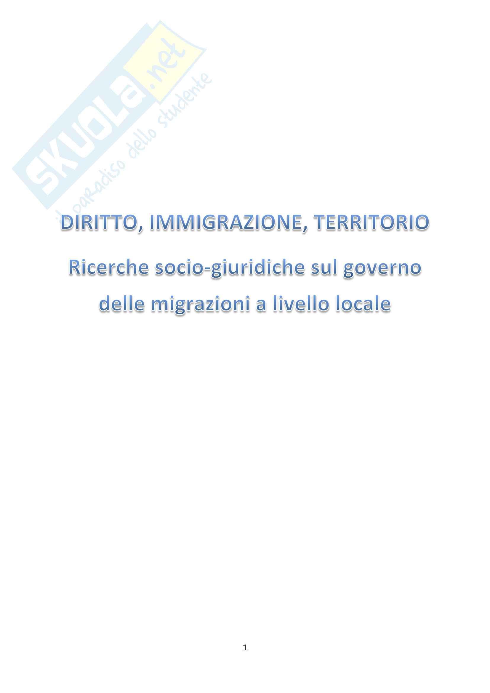 Riassunto esame sociologia del diritto e delle professioni legali, libro consigliato  Diritto, Immigrazione, Territorio - ricerche sociogiuridiche sul governo delle migrazioni a livello locale di I. Fanlo Cortes