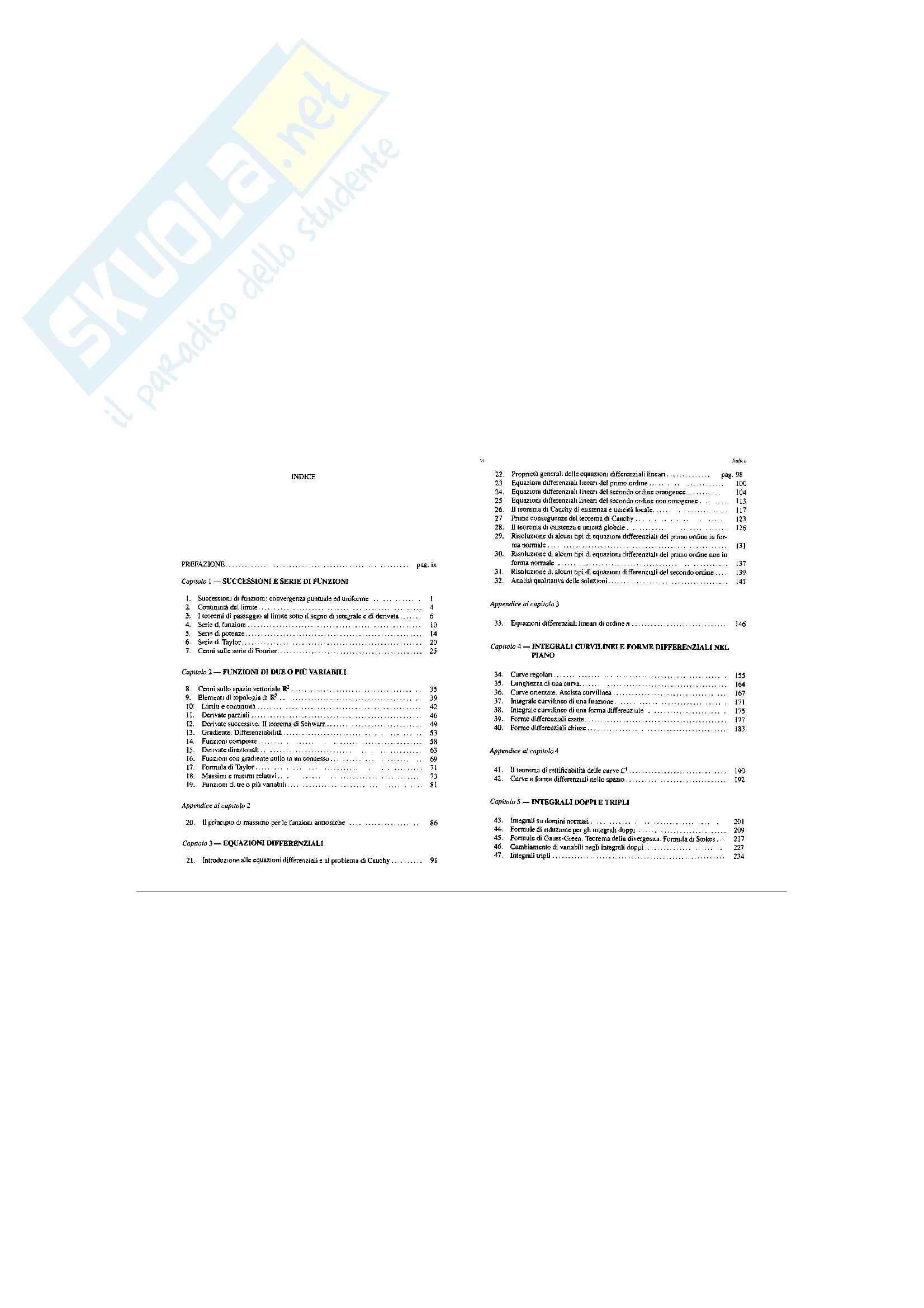 appunto A. Laforgia Analisi Matematica 2