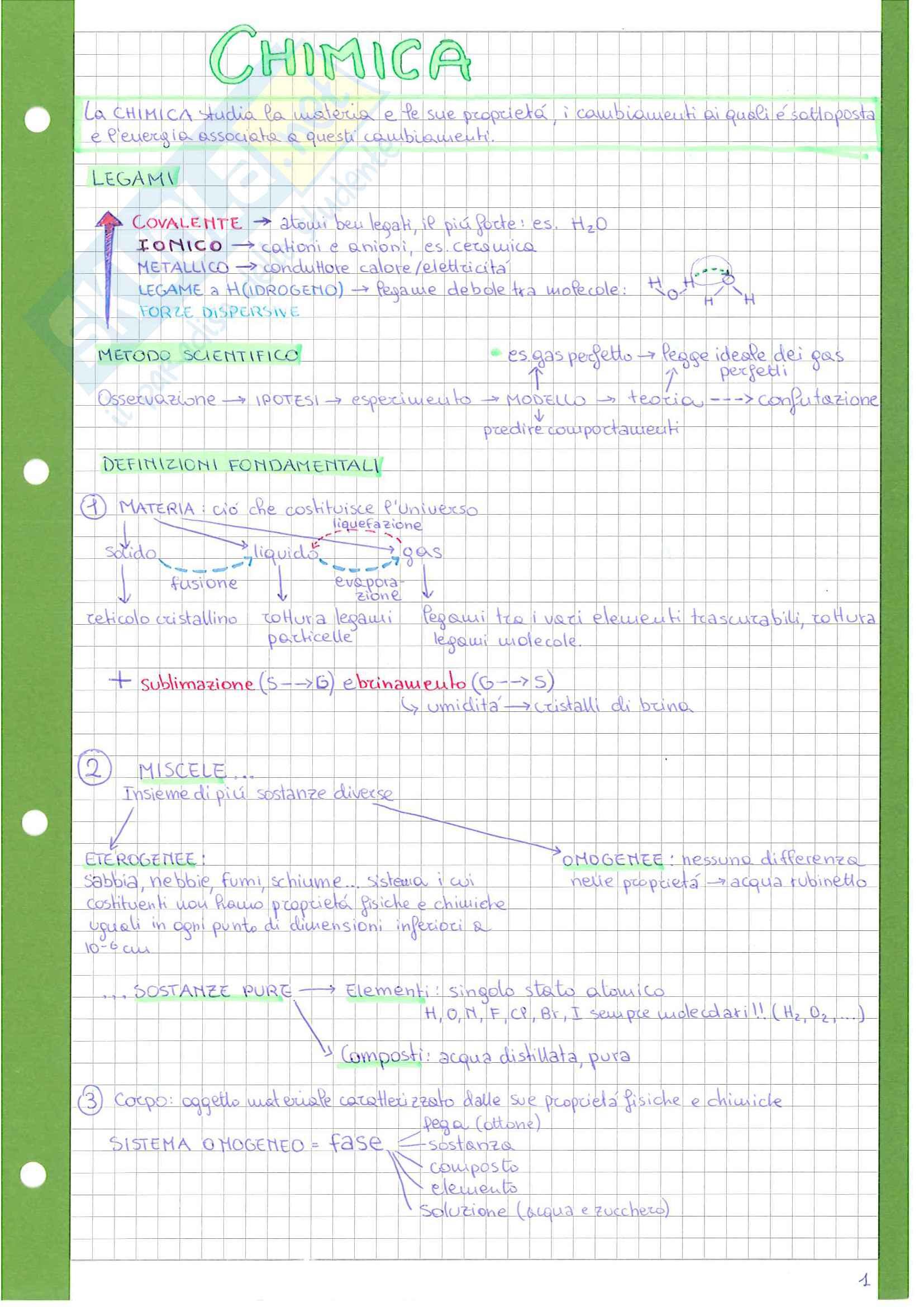 Appunti chimica 1