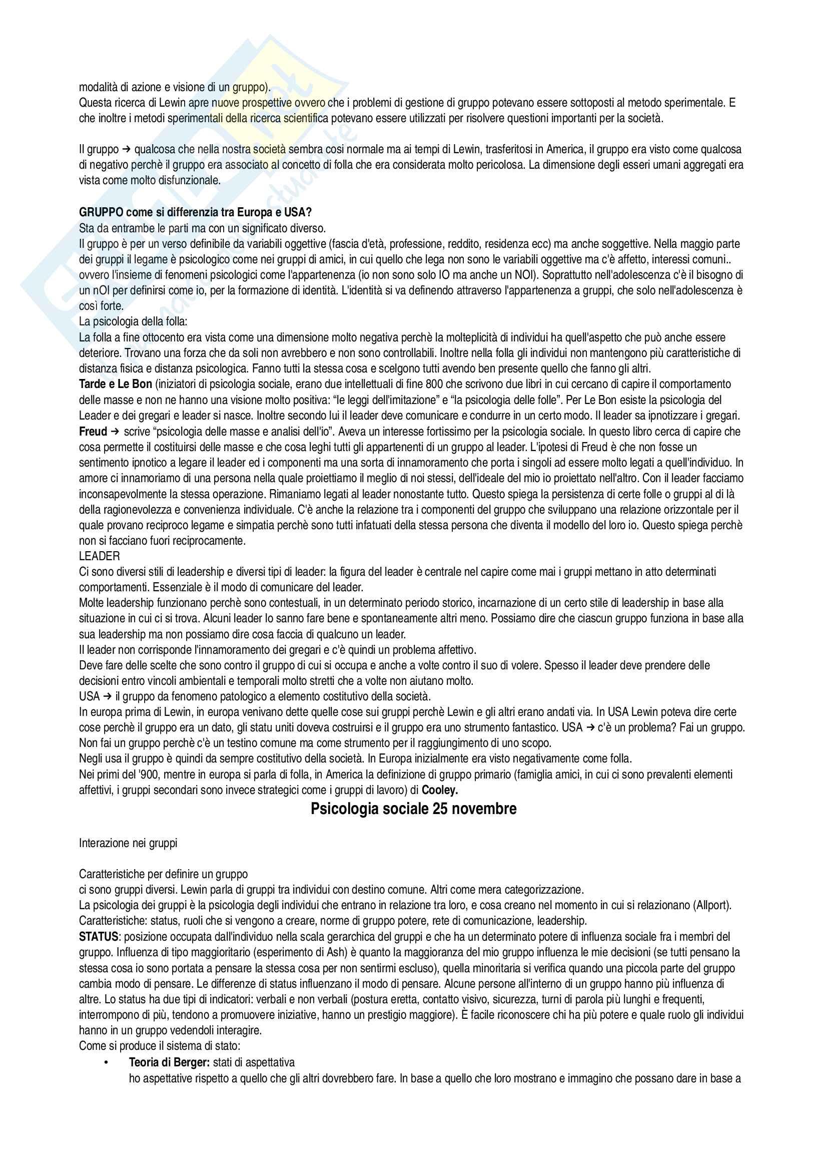 Psicologia sociale, appunti delle lezioni su tutto il programma Pag. 21