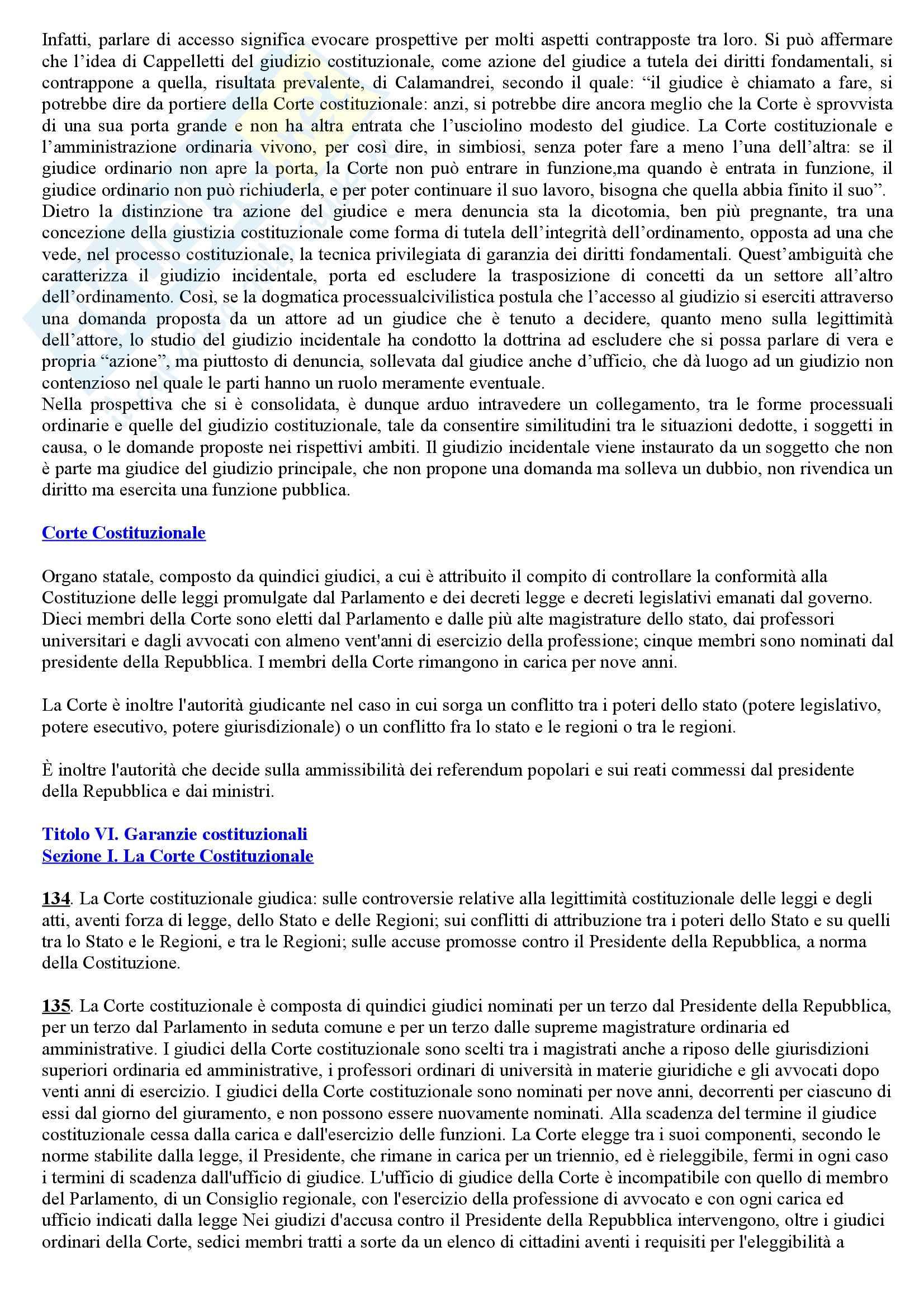 Riassunto esame Istituzioni di Diritto Pubblico, prof. Cerri, libro consigliato Manuale di Diritto Pubblico, Barbera Pag. 86