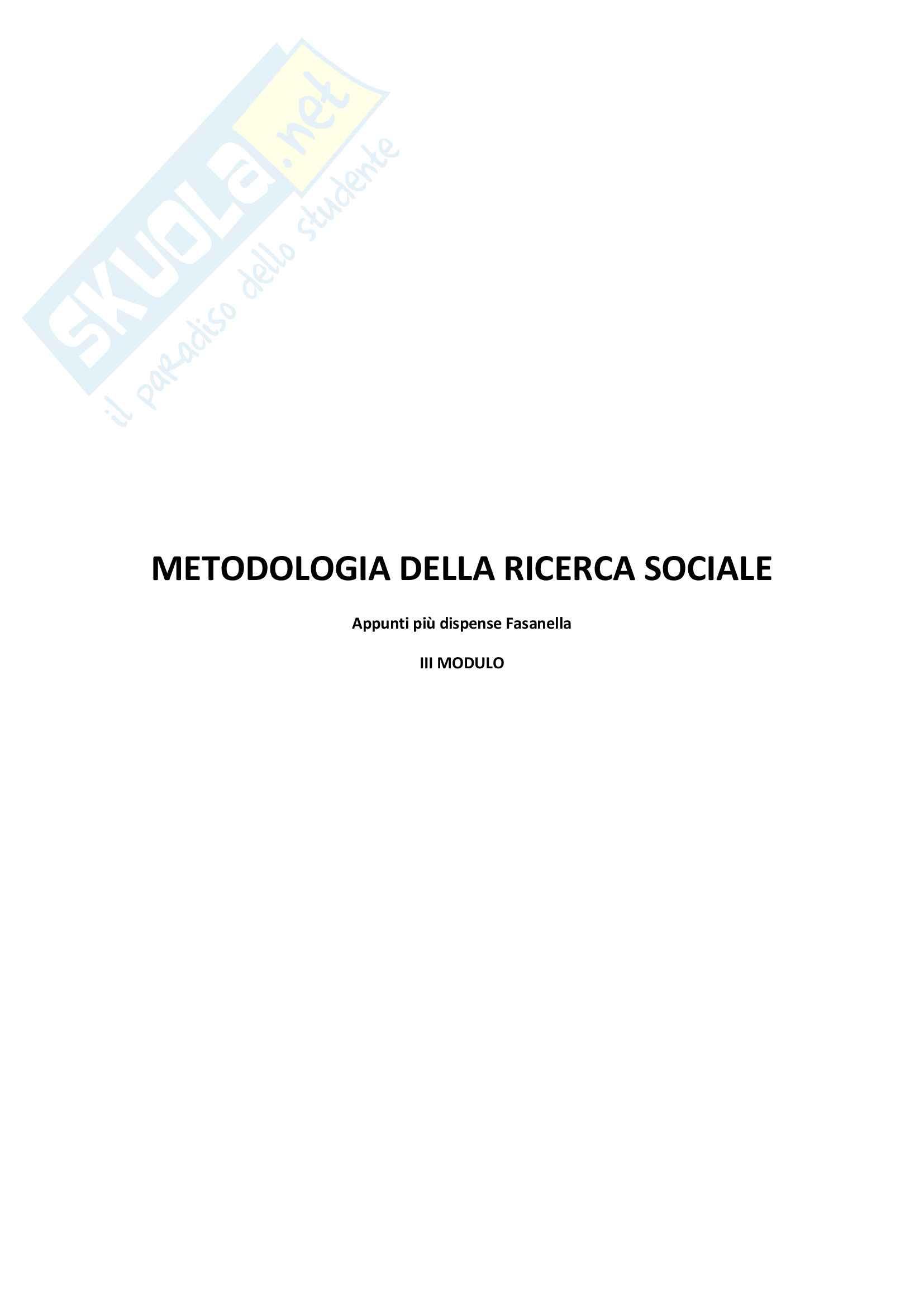 Appunti esame Metodologia della ricerca sociale - Esperimenti. Validità interna e Validità esterna
