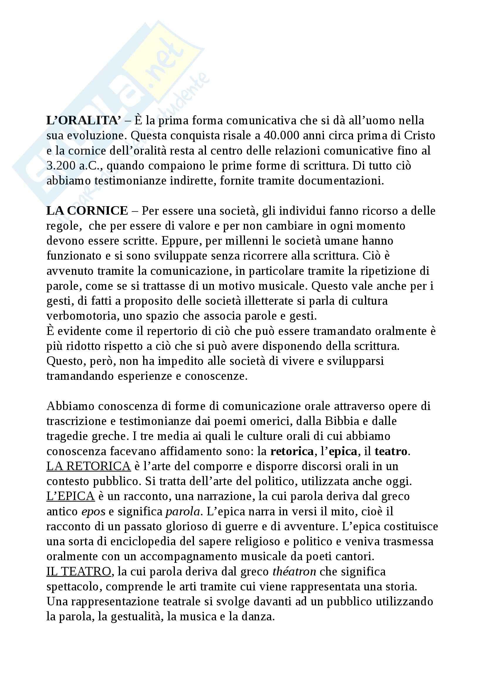 Riassunto esame Tecnologie didattiche, prof. Bocci, libro consigliato Storia e pedagogia nei media, Maragliano, Pireddu