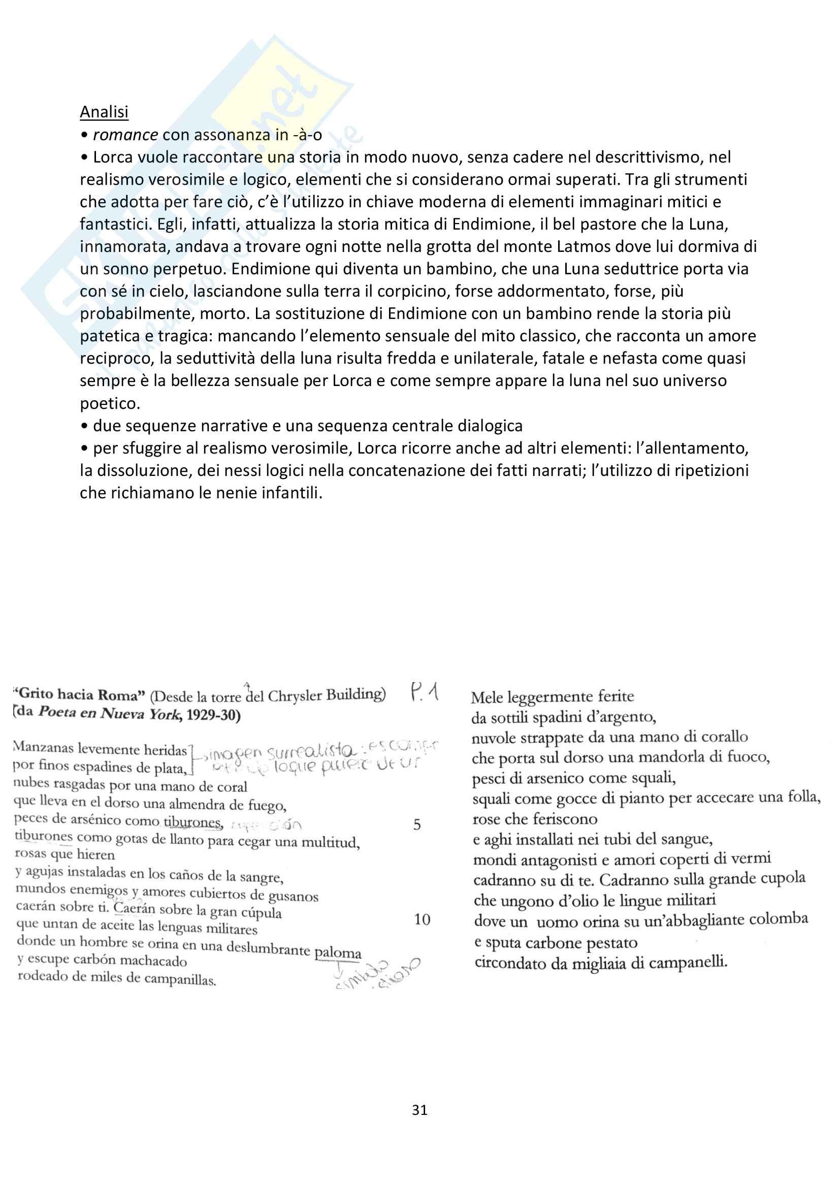 Riassunto esame Letteratura Spagnola Pag. 31