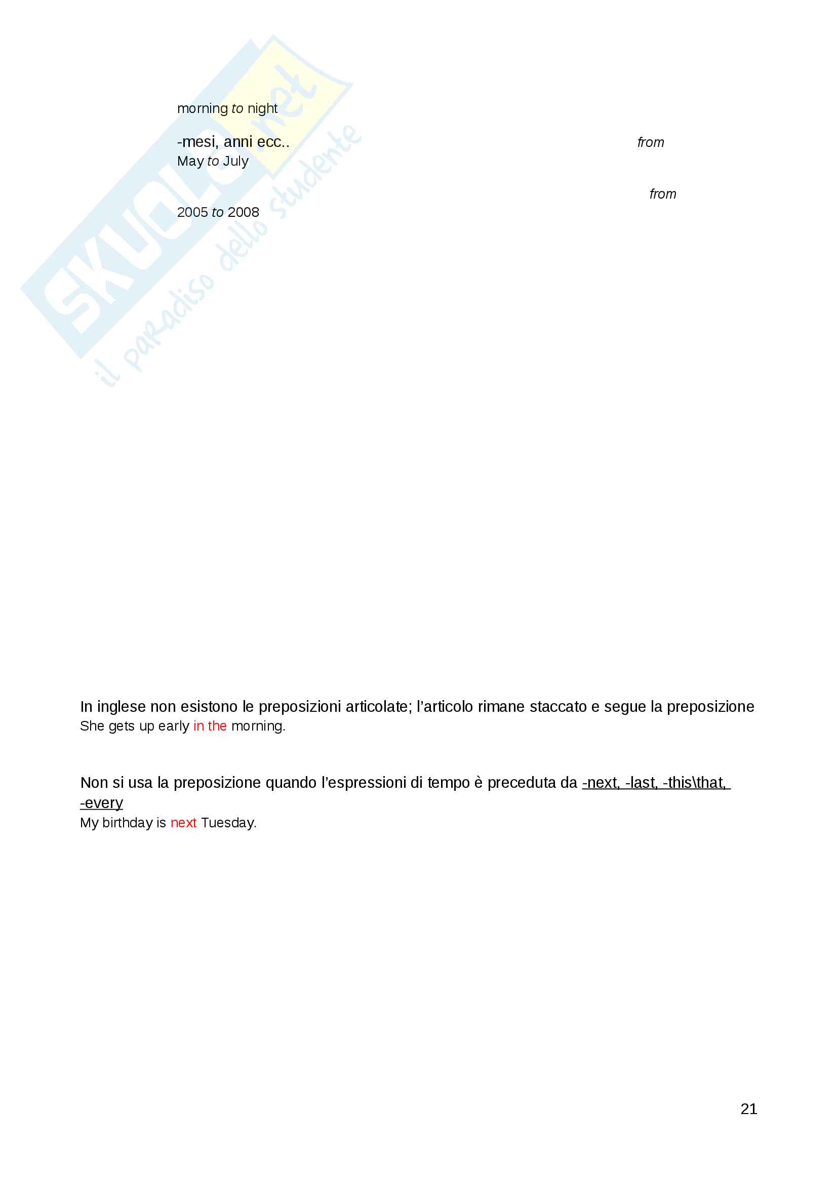 Grammatica Inglese Pag. 21