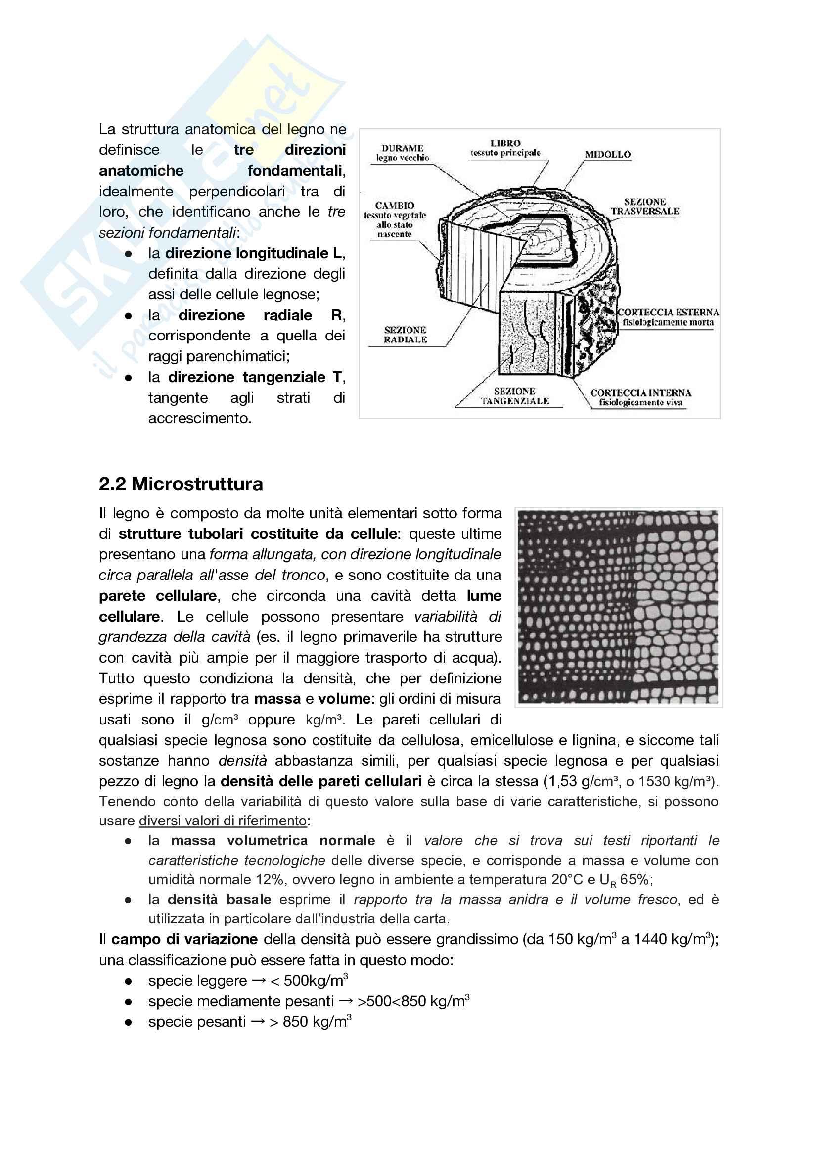 Riassunto esame Tecnologia del Legno, prof. Marco Fioravanti, basato su appunti presi a lezione e dispense del professore Pag. 6
