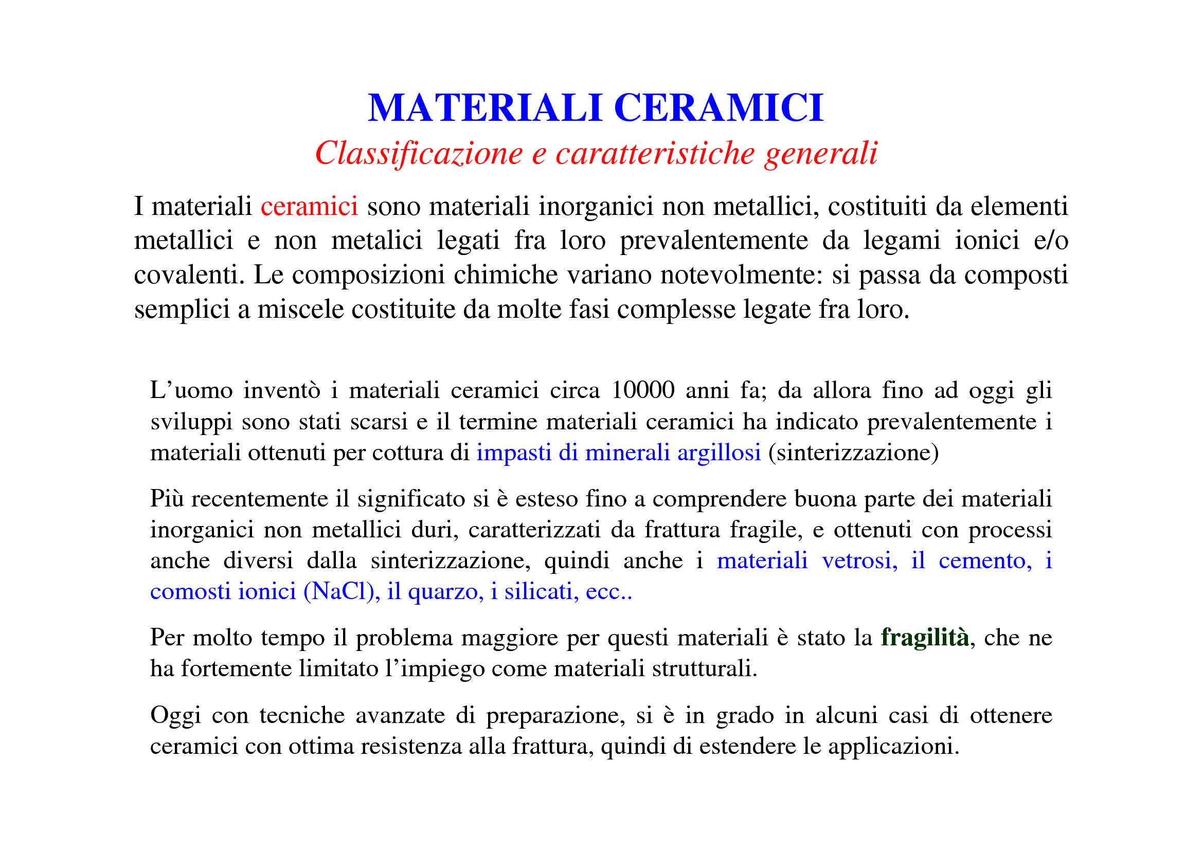 Materiali ceramici