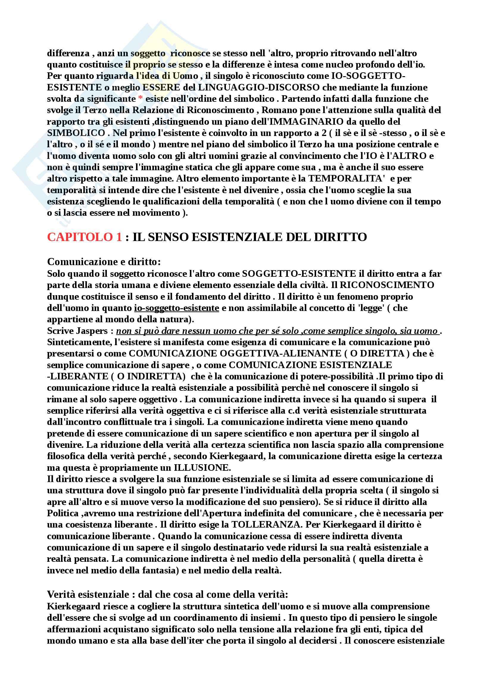 """Riassunto esame Filosofia del diritto, Prof. Romano, Libro consigliato """"Filosofia e filosofia del diritto"""" di B. Romano Pag. 2"""