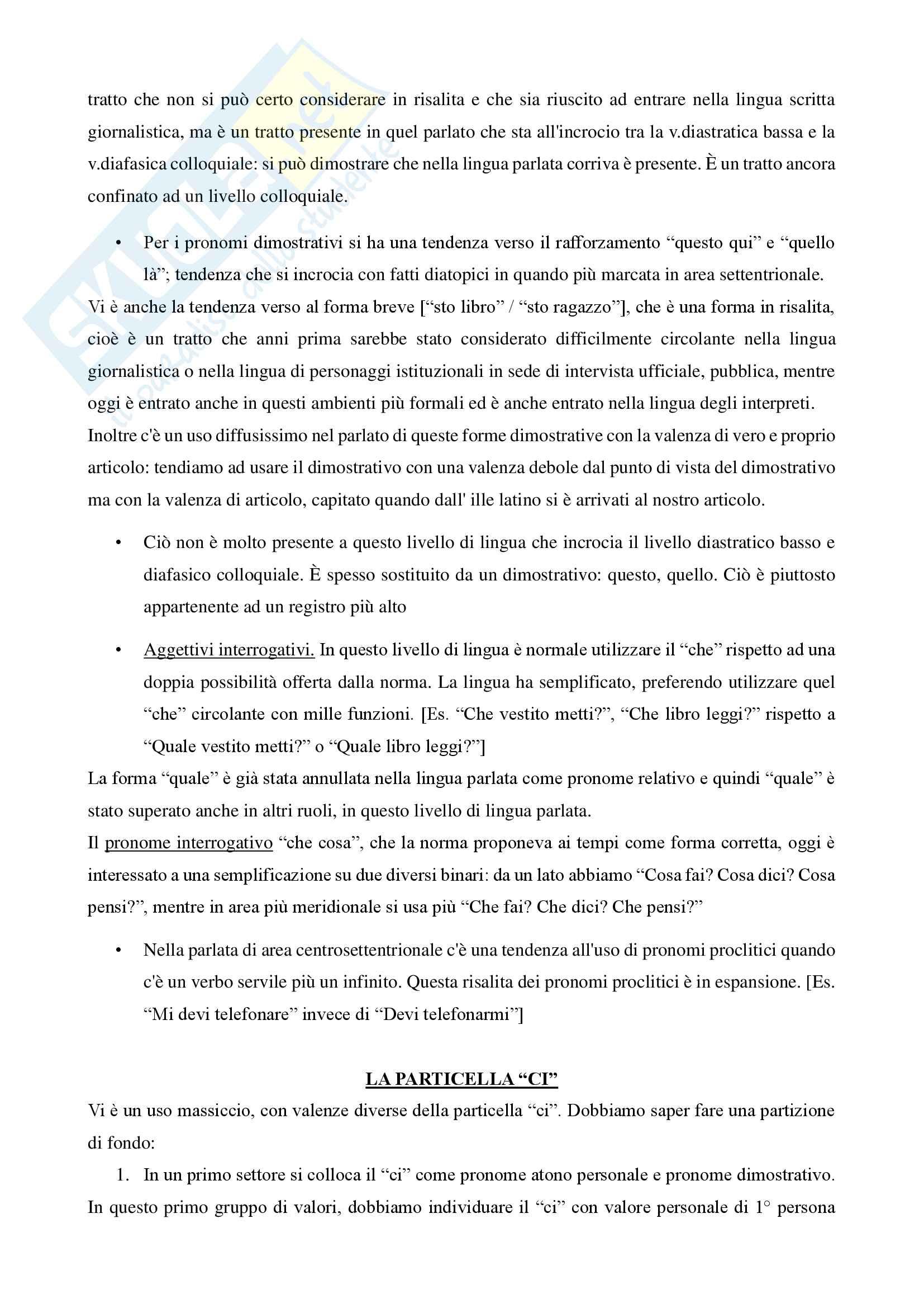 Riassunto esame Linguistica Italiana, prof. Mancini Pag. 21